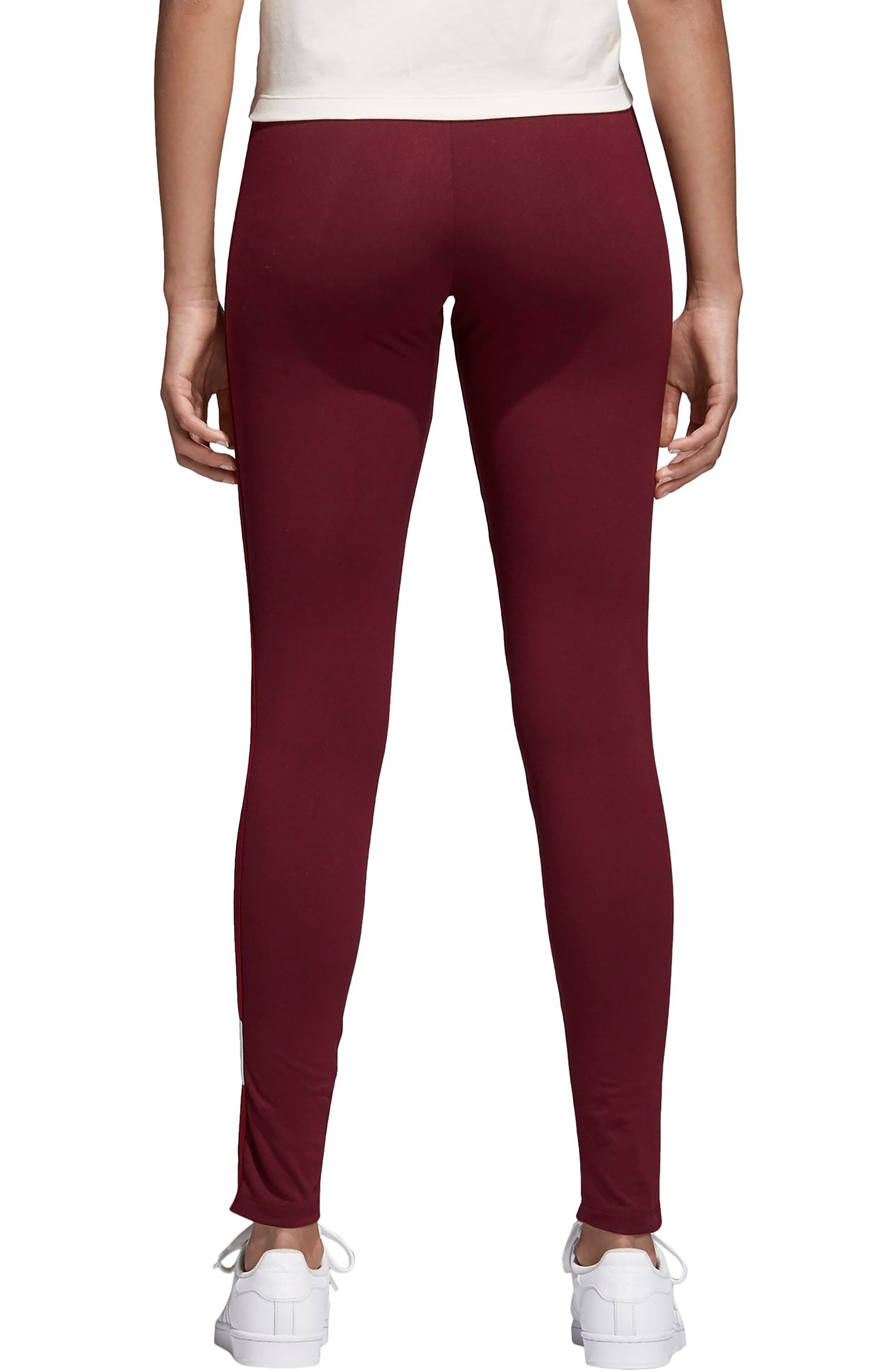 Originals Adibreak Tights,                             Alternate thumbnail 2, color,                             Maroon