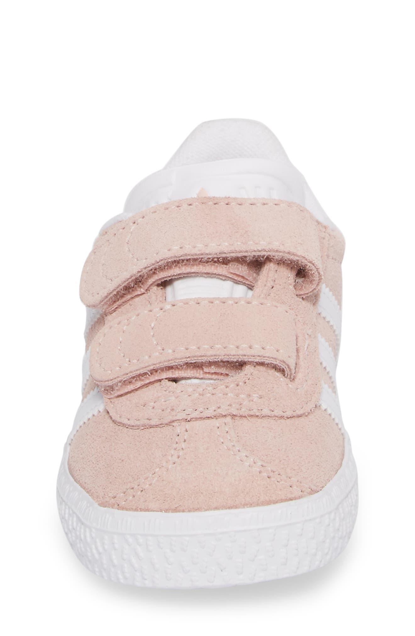 Gazelle Sneaker,                             Alternate thumbnail 4, color,                             Icey Pink / White / White
