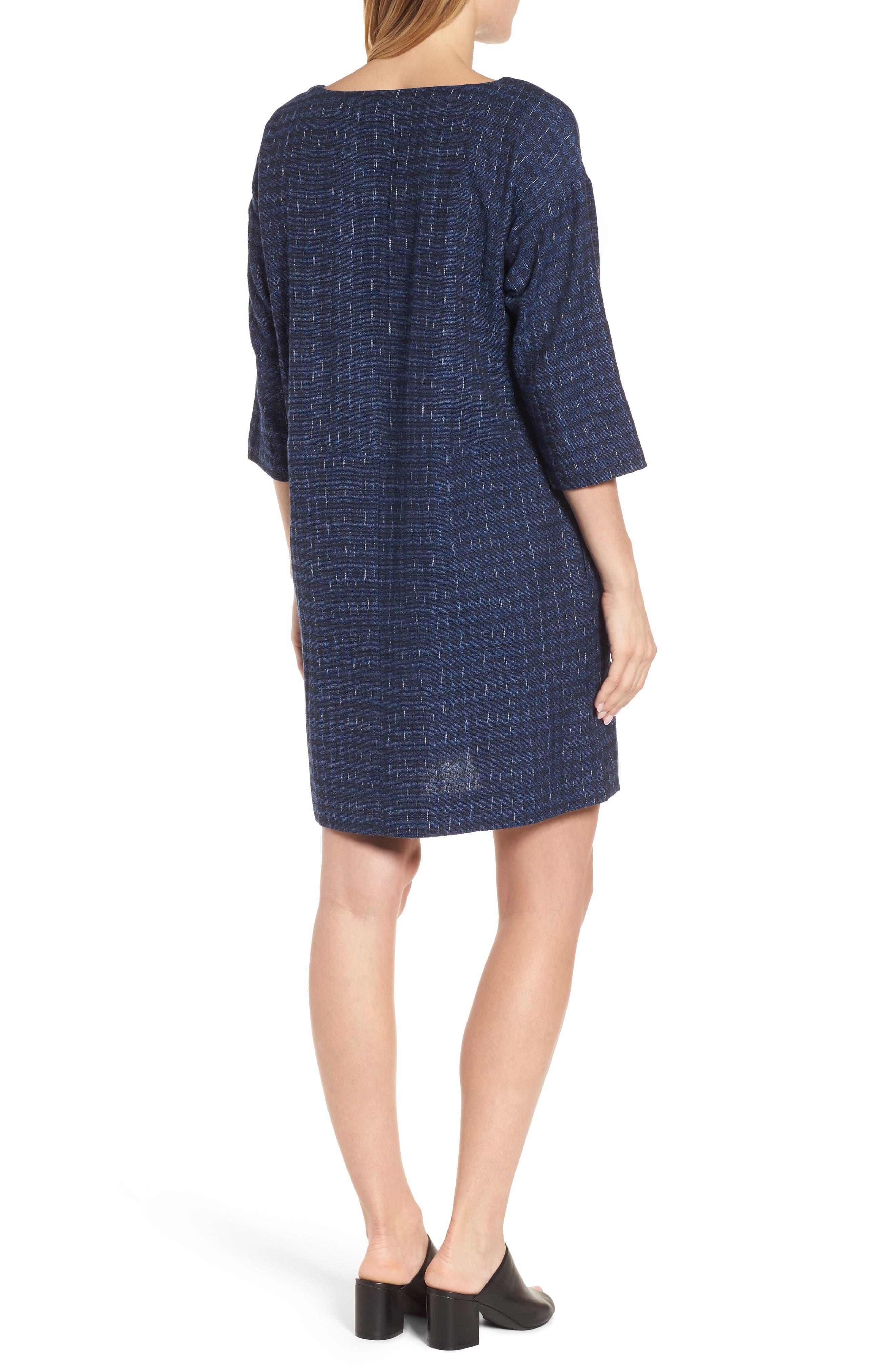 Alternate Image 2  - Eileen Fisher Organic Cotton Jacquard Shift Dress