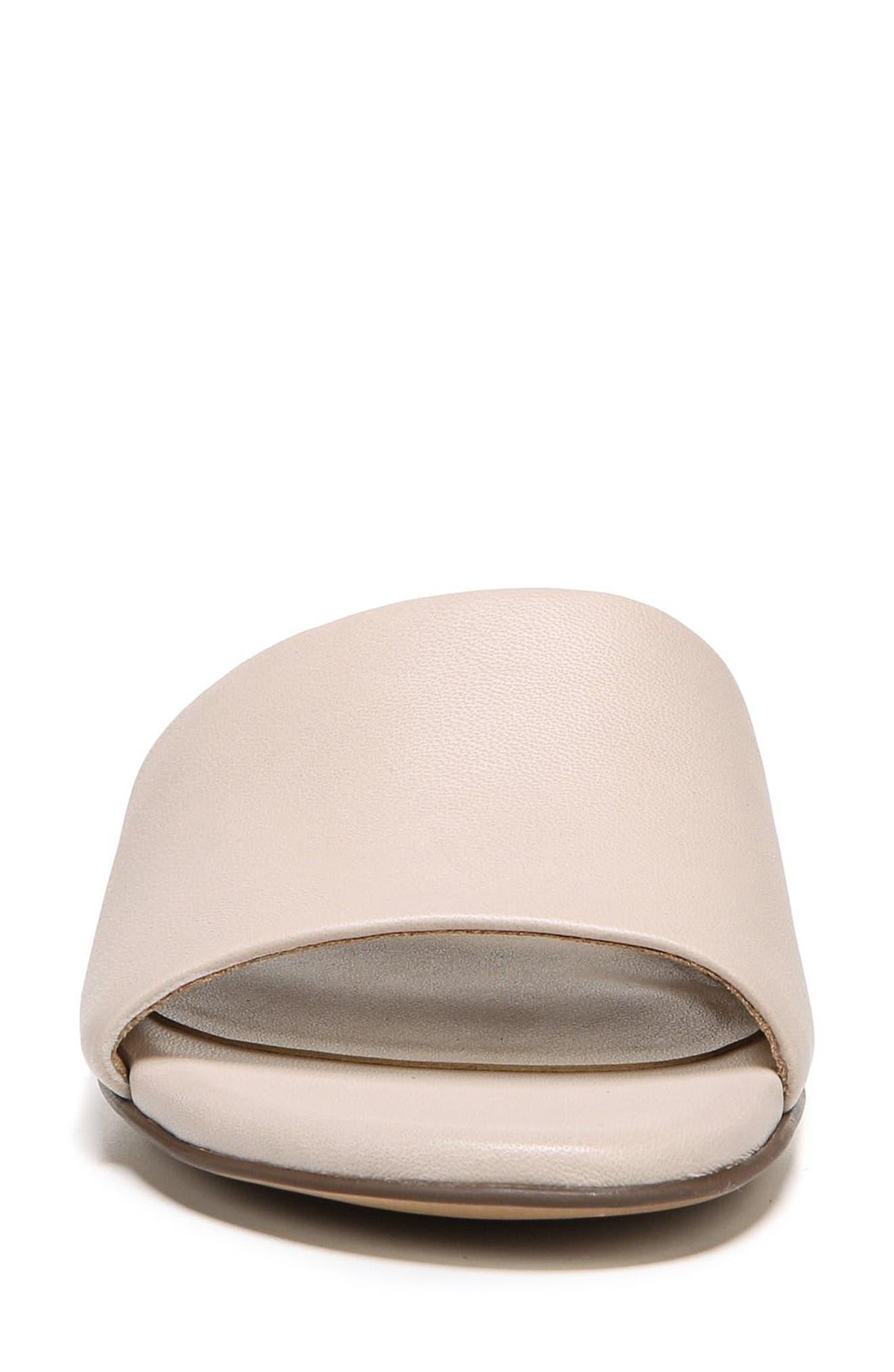 Mason Slide Sandal,                             Alternate thumbnail 4, color,                             Grey Leather