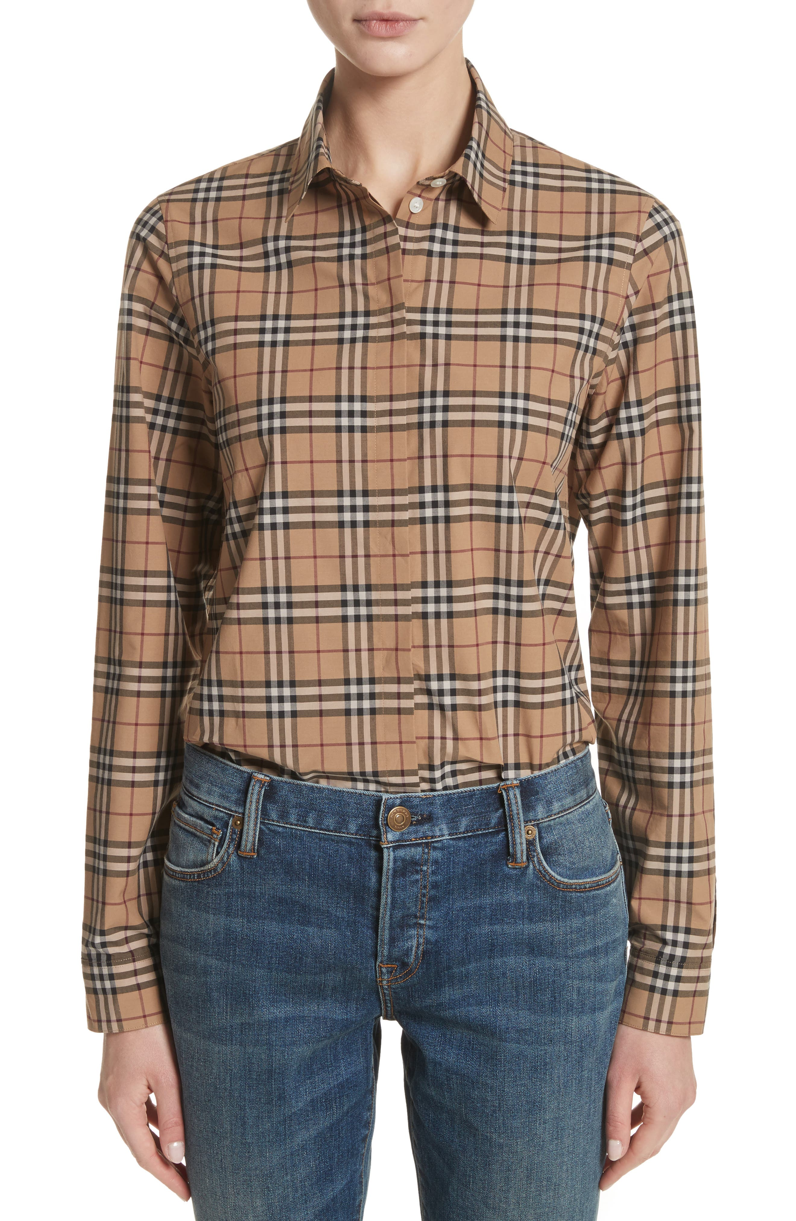 Alternate Image 1 Selected - Burberry Vintage Check Cotton Shirt