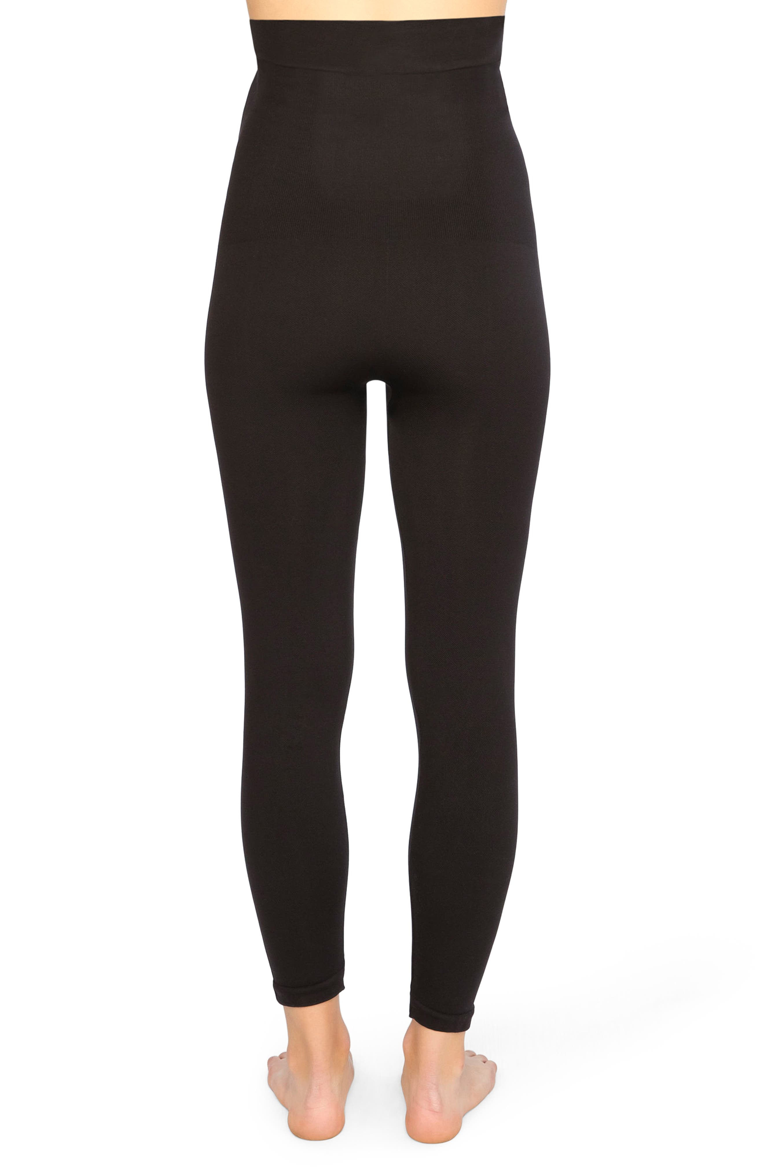 Look At Me Now High Waist Seamless Leggings,                             Alternate thumbnail 2, color,                             Very Black