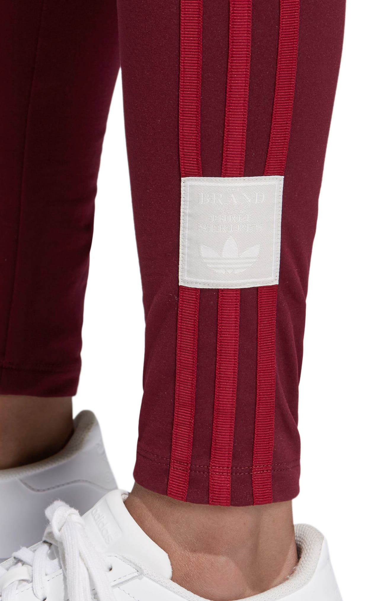 Originals Adibreak Tights,                             Alternate thumbnail 4, color,                             Maroon