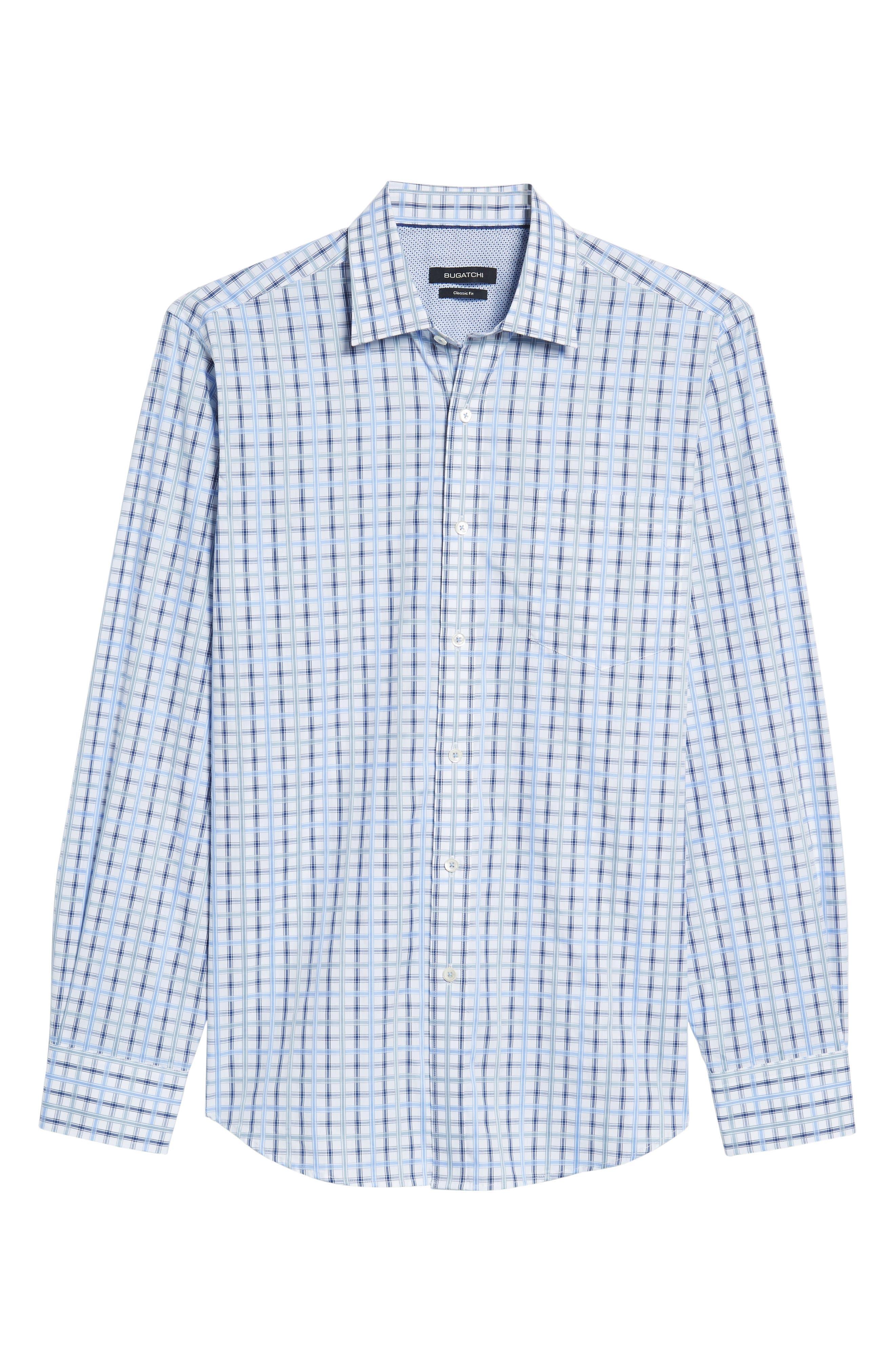 Alternate Image 6  - Bugatchi Classic Fit Check Sport Shirt