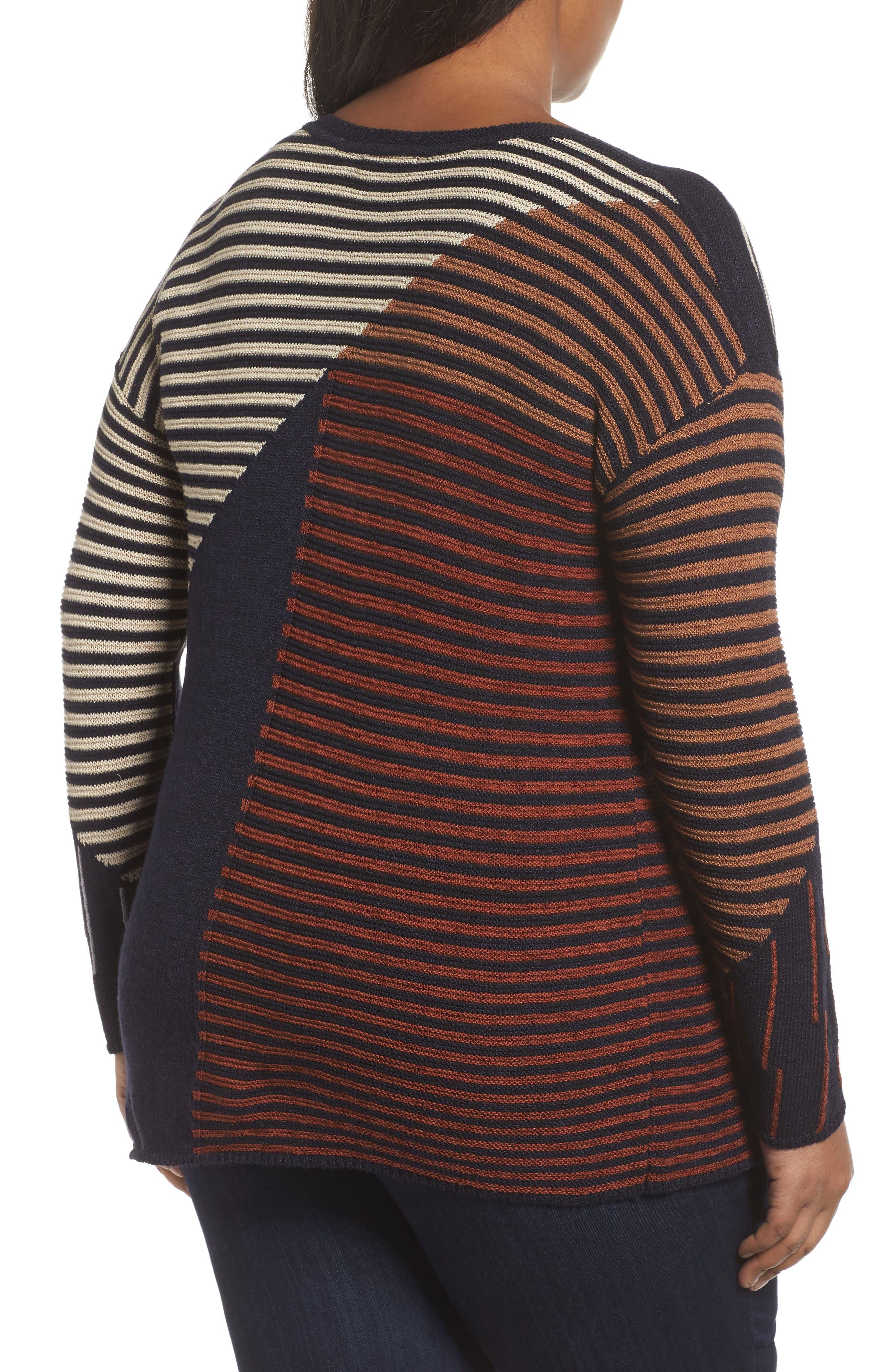 Alternate Image 2  - NIC+ZOE Lagoon Sweater (Plus Size)