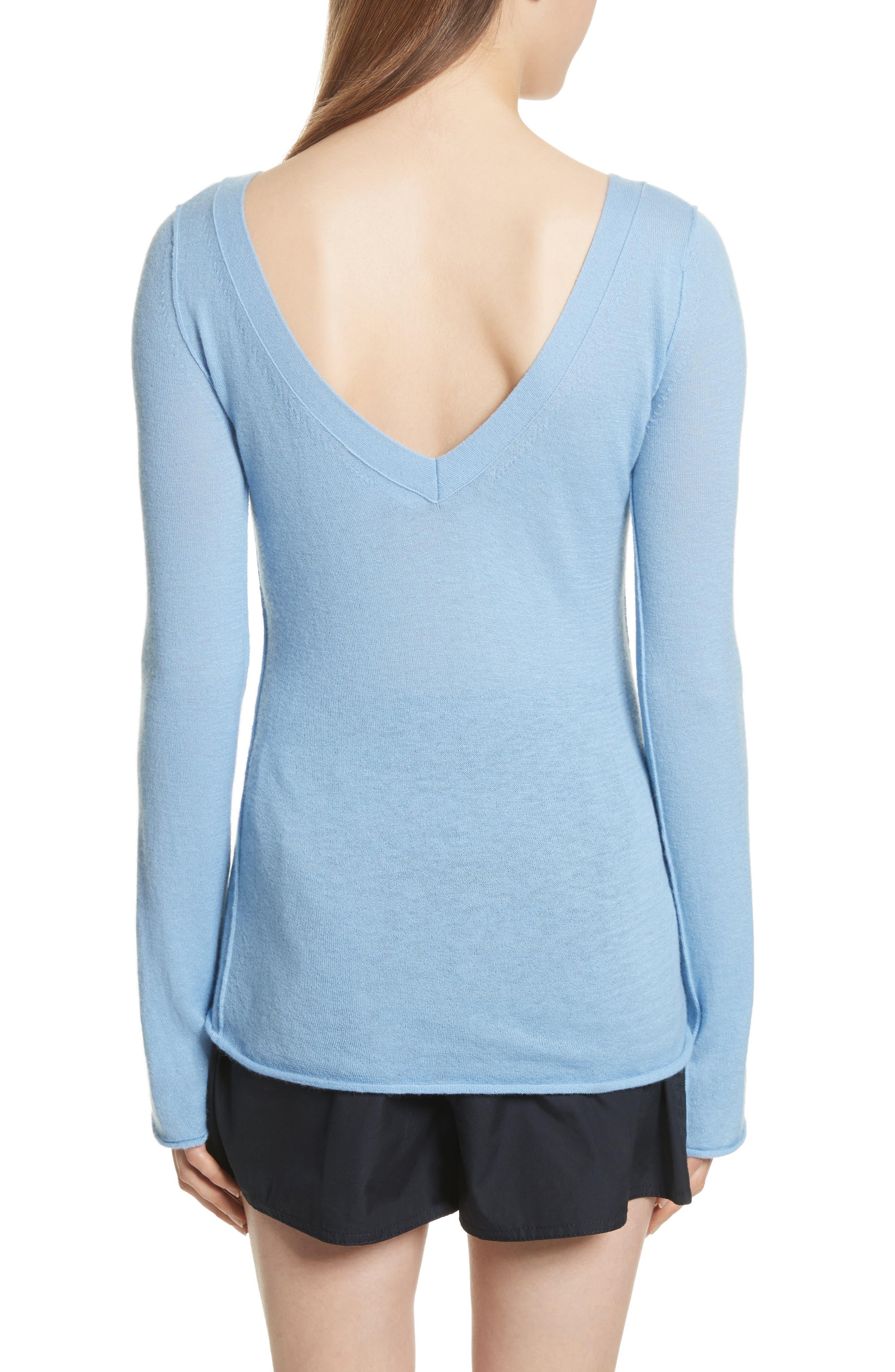 Alternate Image 2  - Vince Cashmere V-Back Cashmere Sweater