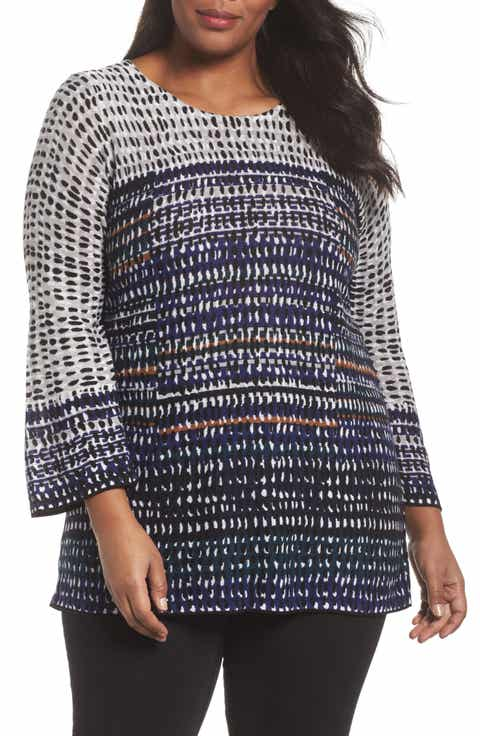 NIC+ZOE New Light Knit Tunic Top (Plus Size)