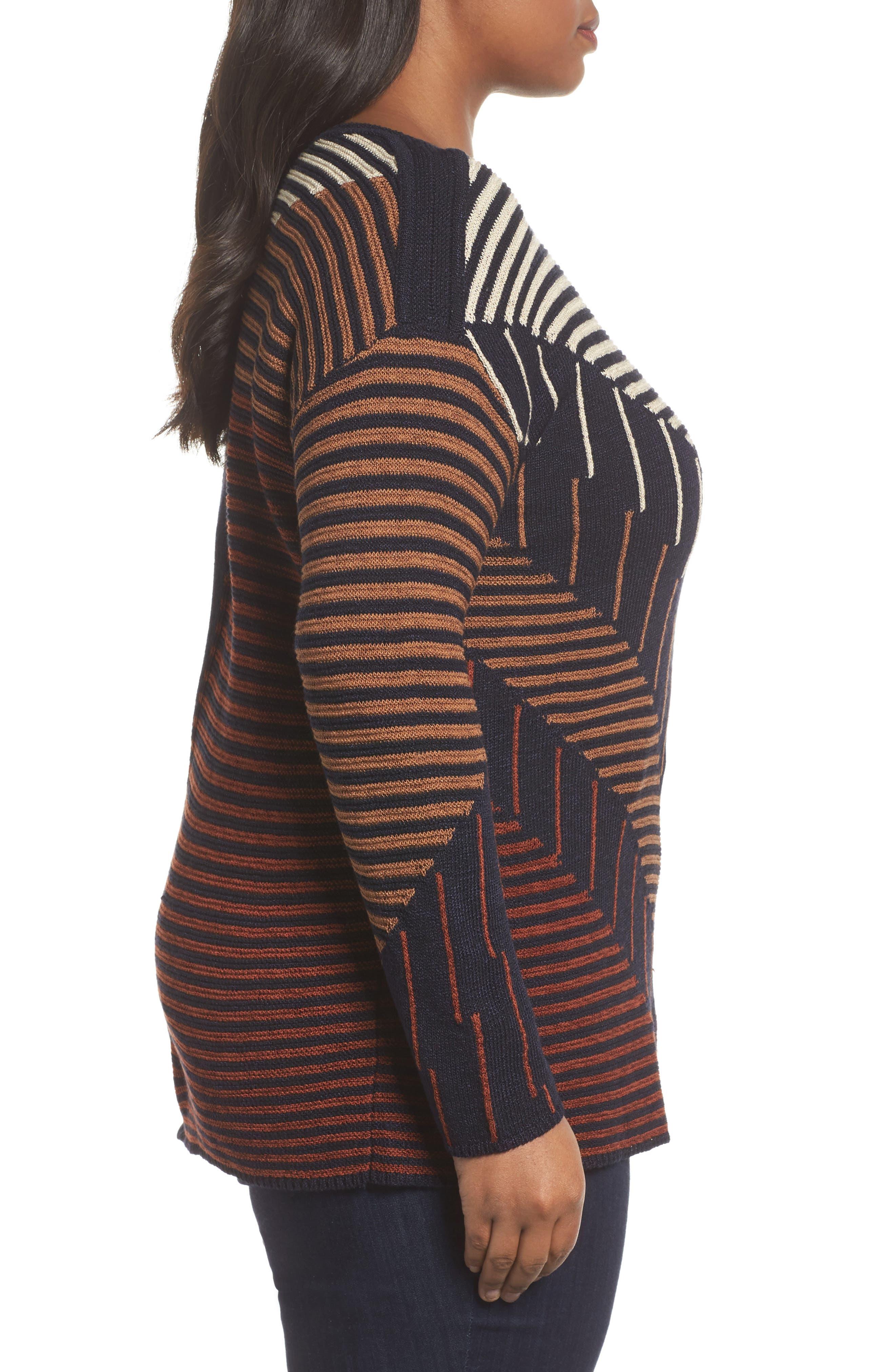 Alternate Image 3  - NIC+ZOE Lagoon Sweater (Plus Size)