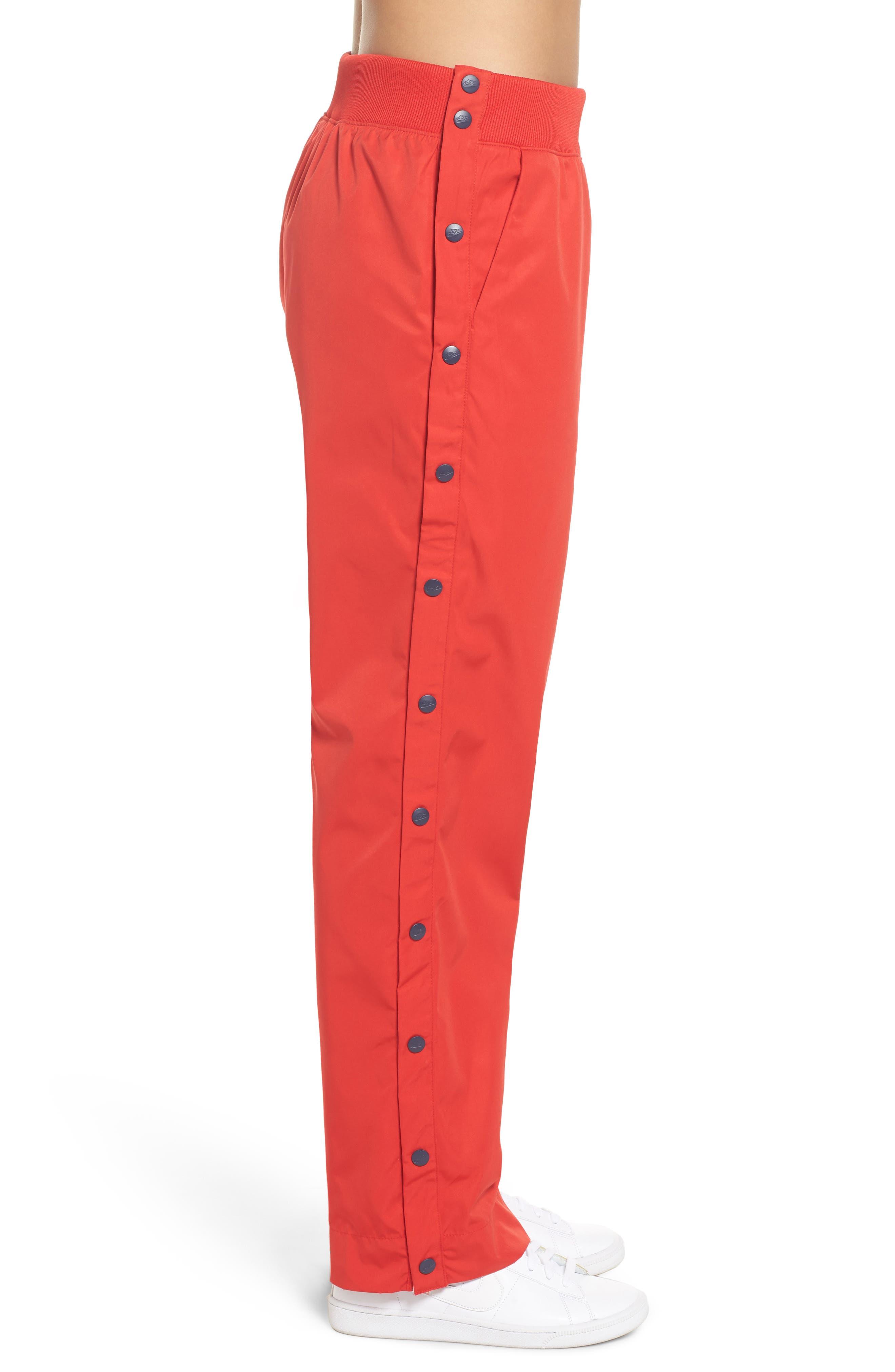 Sportswear Archive Snap Track Pants,                             Alternate thumbnail 3, color,                             University Red/ Thunder Blue