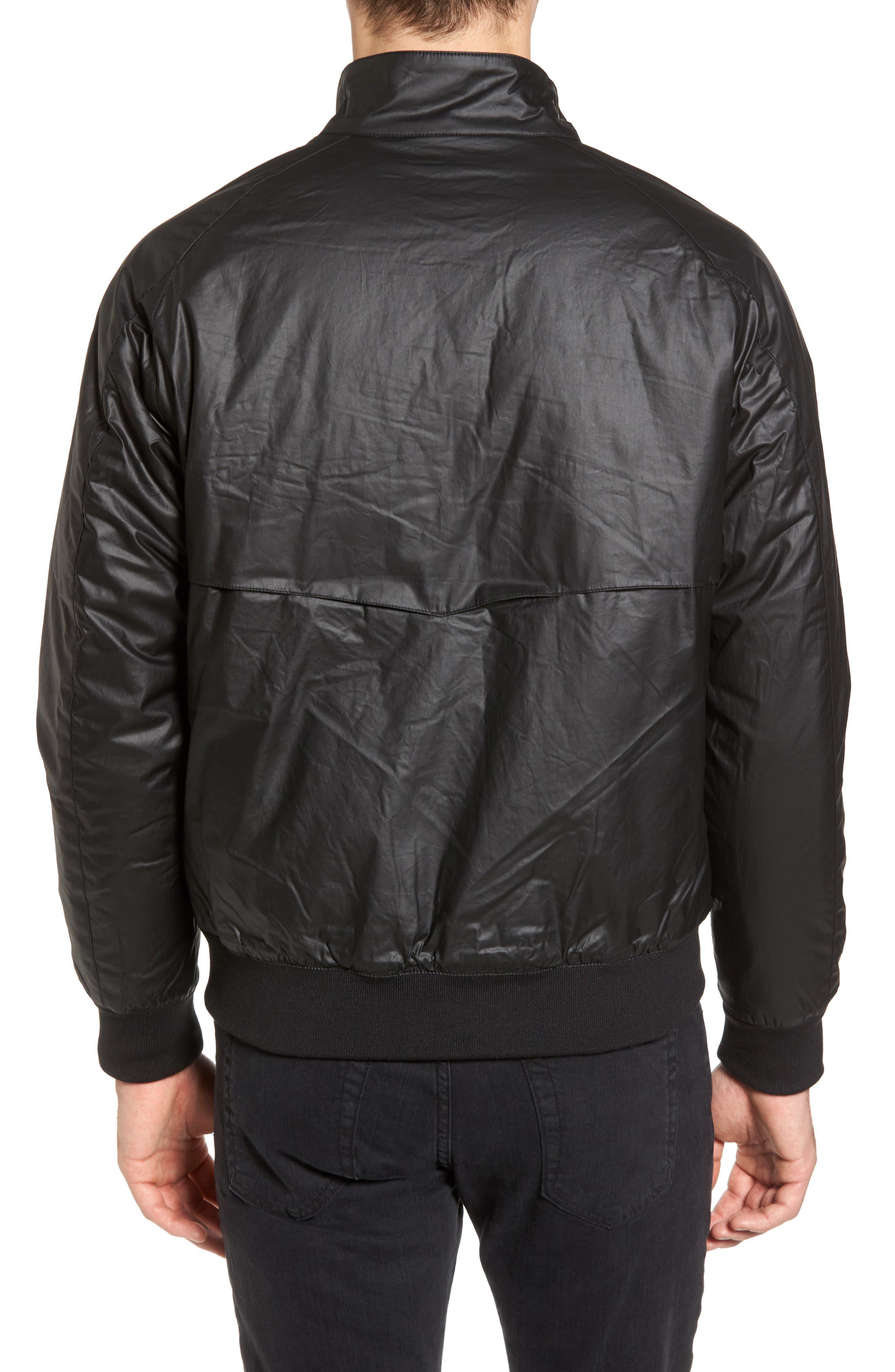 Insulated Harrington Jacket,                             Alternate thumbnail 2, color,                             Black
