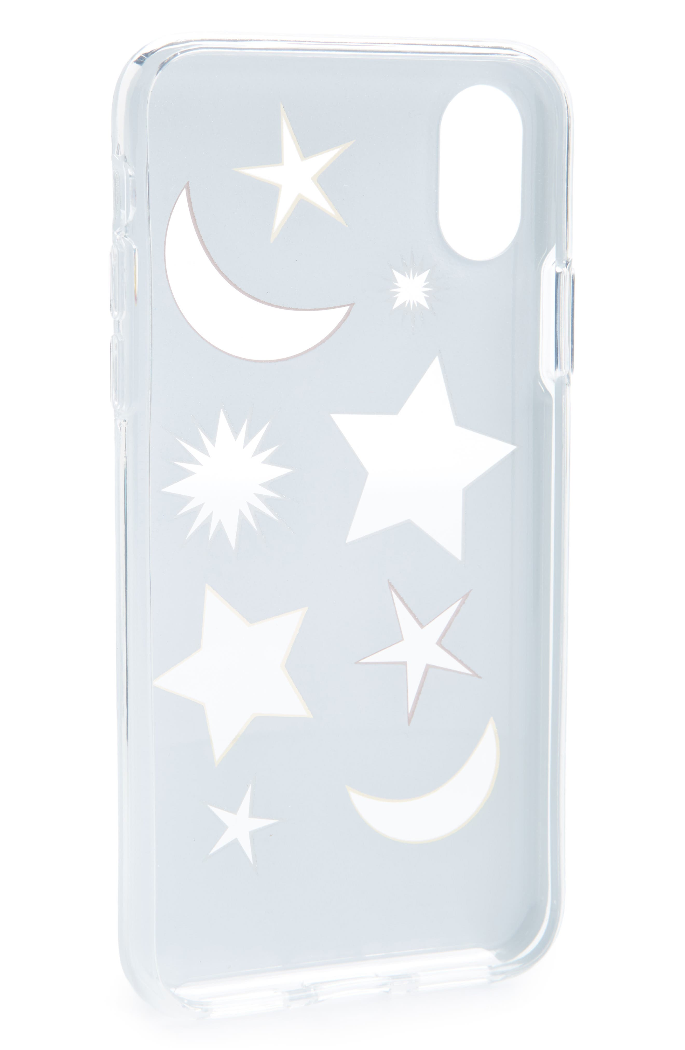 Double Up iPhone X Case,                             Alternate thumbnail 2, color,                             Glitter/ Clear/ Metallic