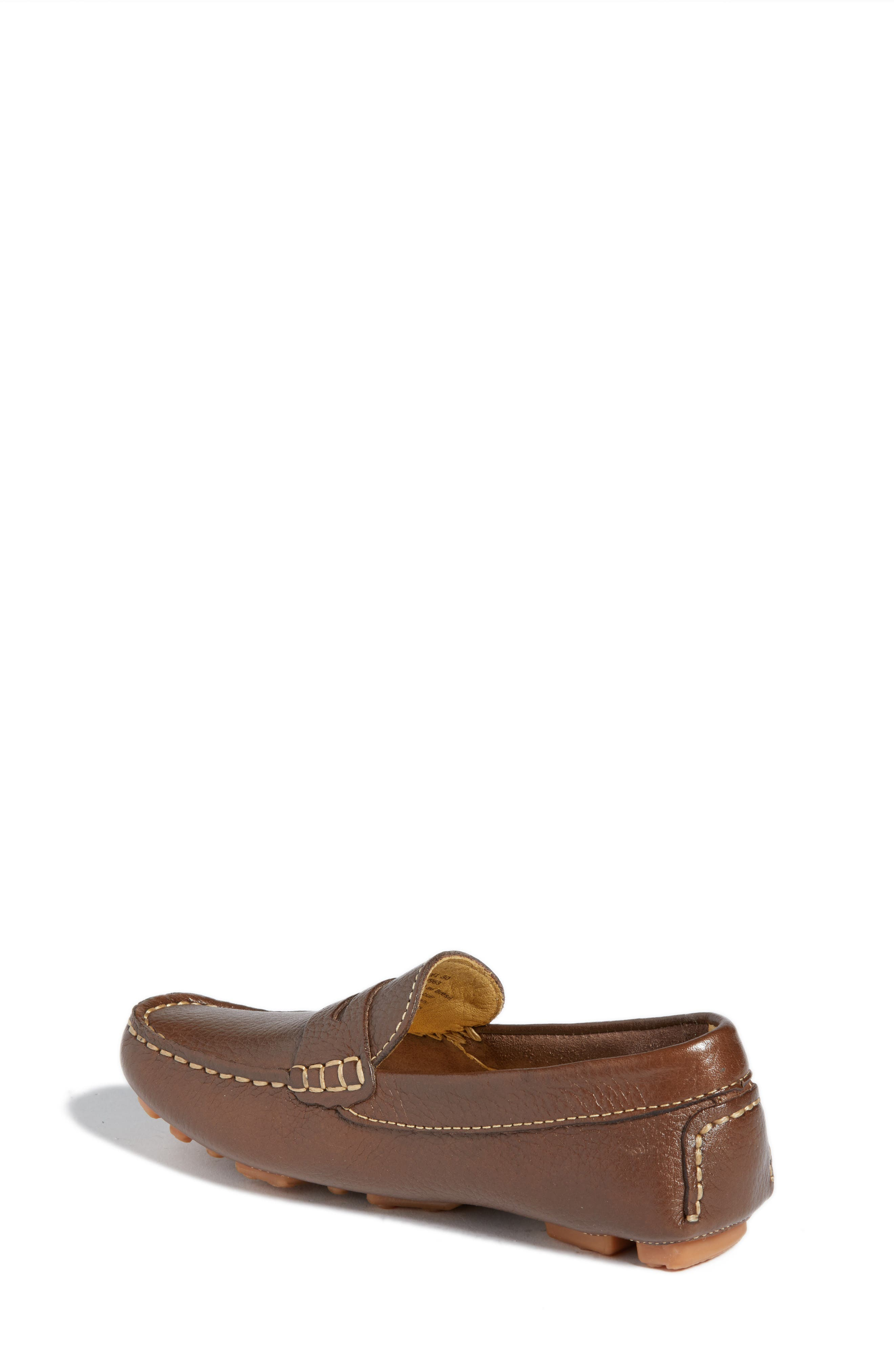 Matteo Moccasin,                             Alternate thumbnail 2, color,                             Brown Leather