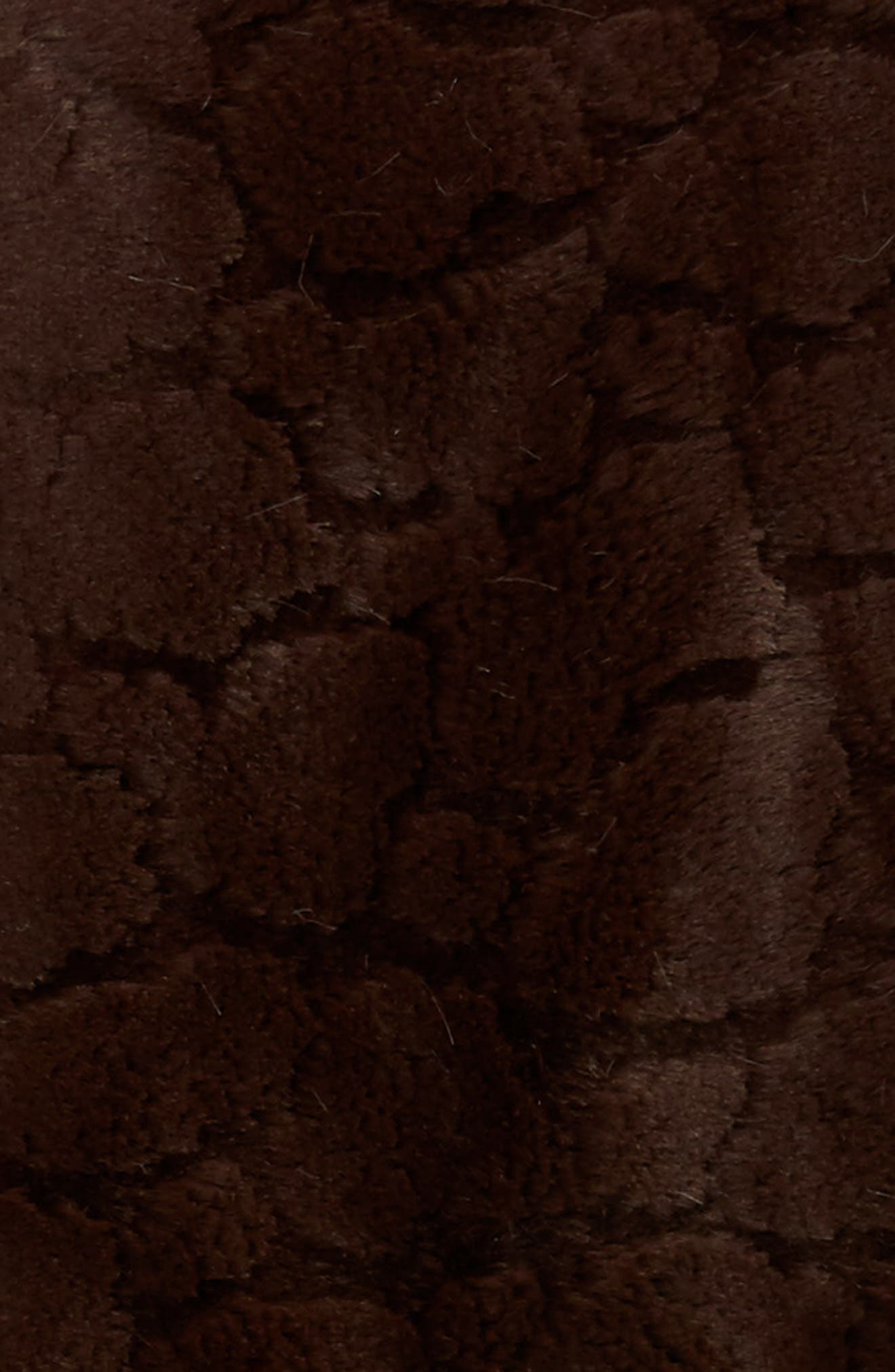 Luxe<sup>™</sup> Embossed Throw,                             Alternate thumbnail 3, color,                             Chocolate