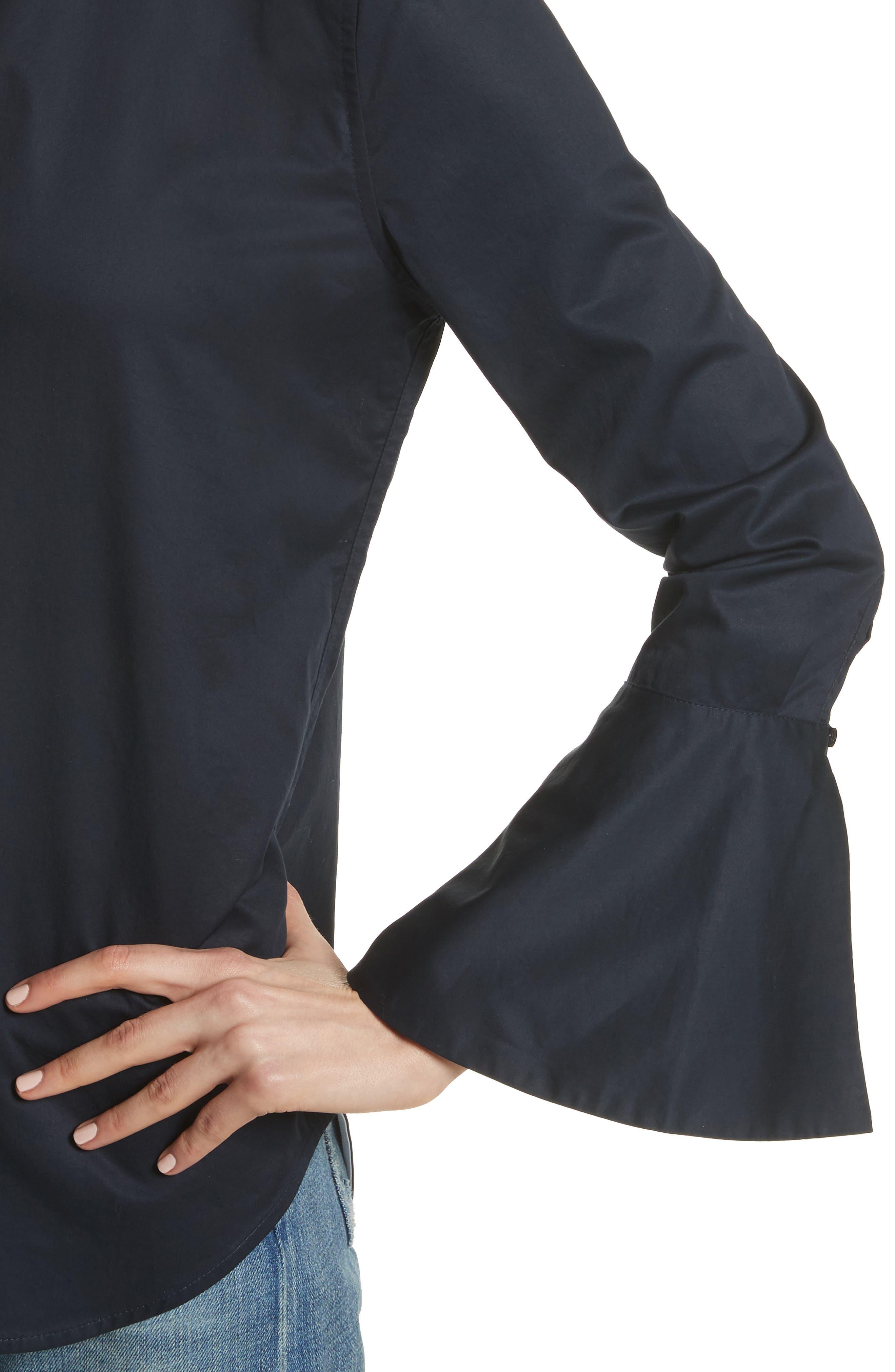 Darla Bell Cuff Shirt,                             Alternate thumbnail 4, color,                             Eclipse