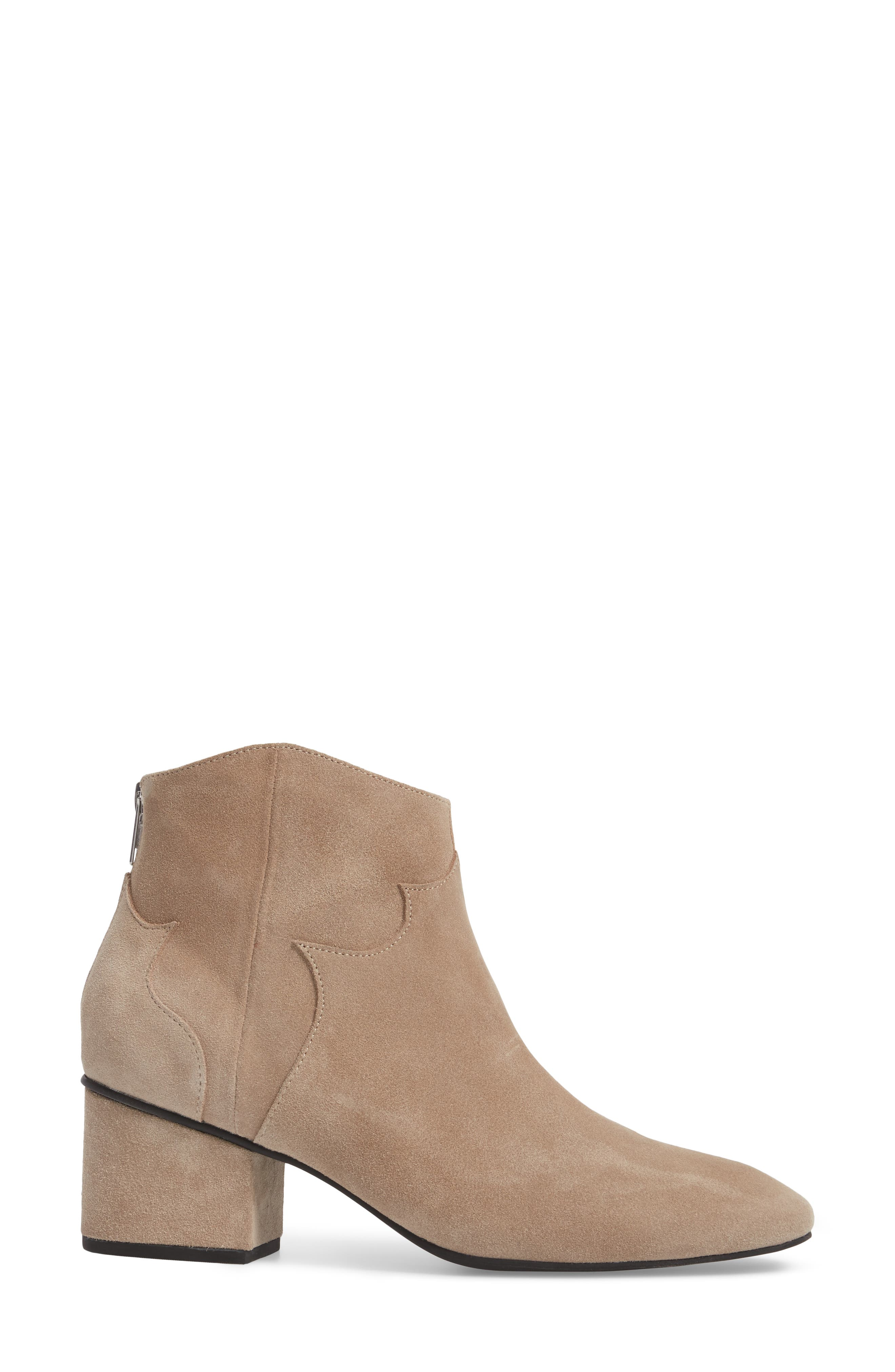 Texan Arched Bootie,                             Alternate thumbnail 3, color,                             Desert Suede
