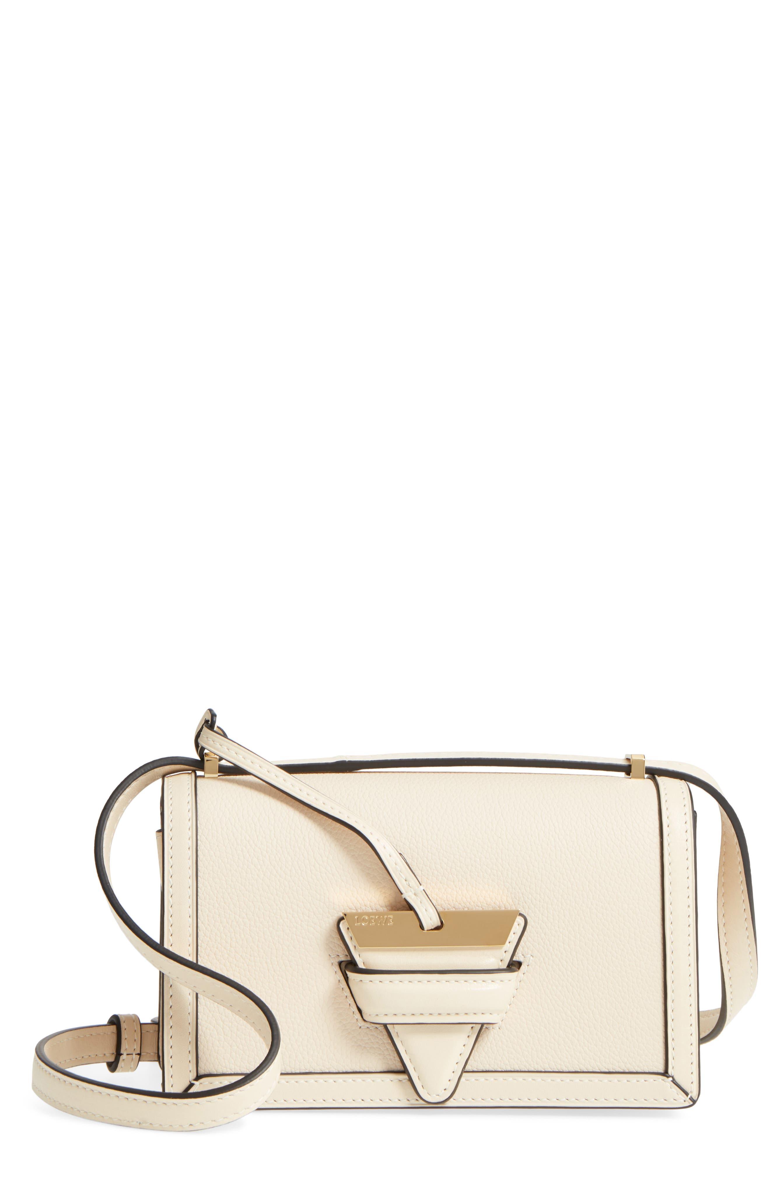 Alternate Image 1 Selected - Loewe Small Barcelona Grainy Leather Crossbody Bag