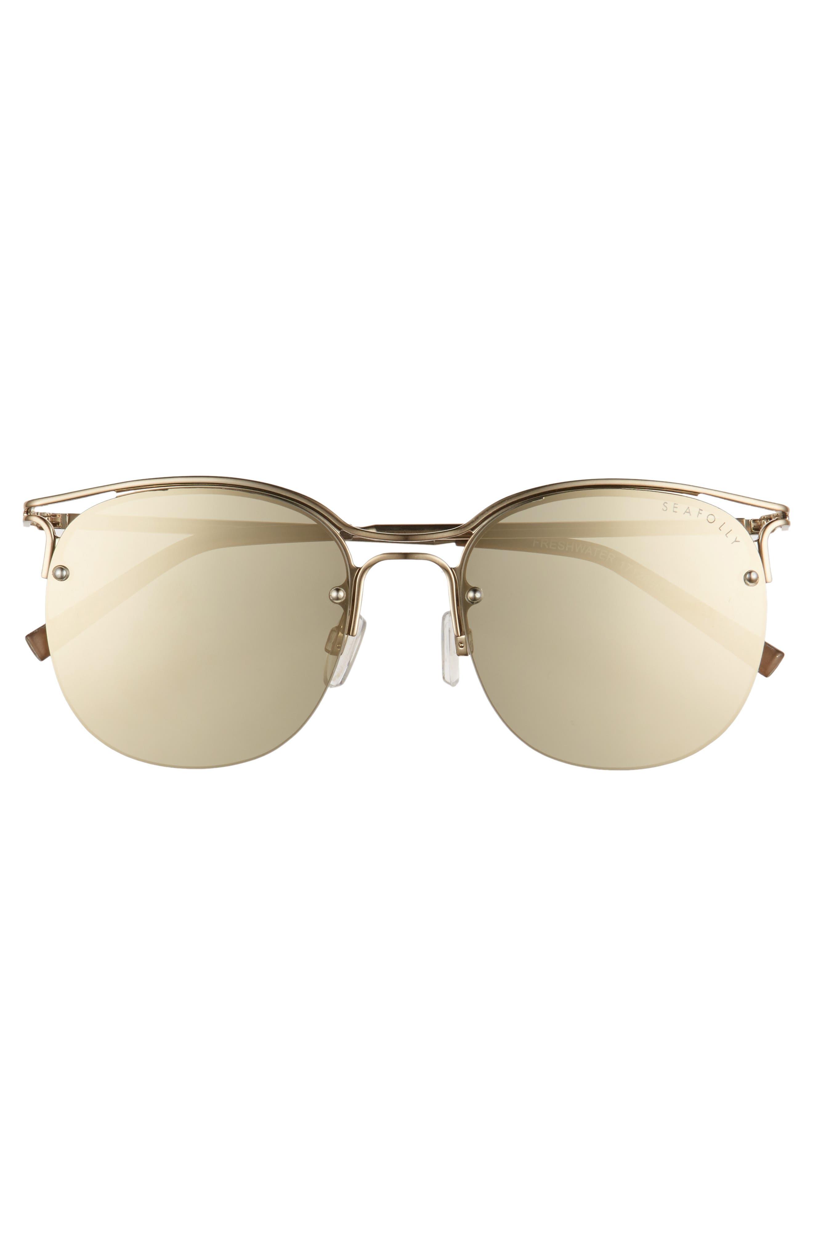 Freshwater 55m Metal Sunglasses,                             Alternate thumbnail 3, color,                             Moss
