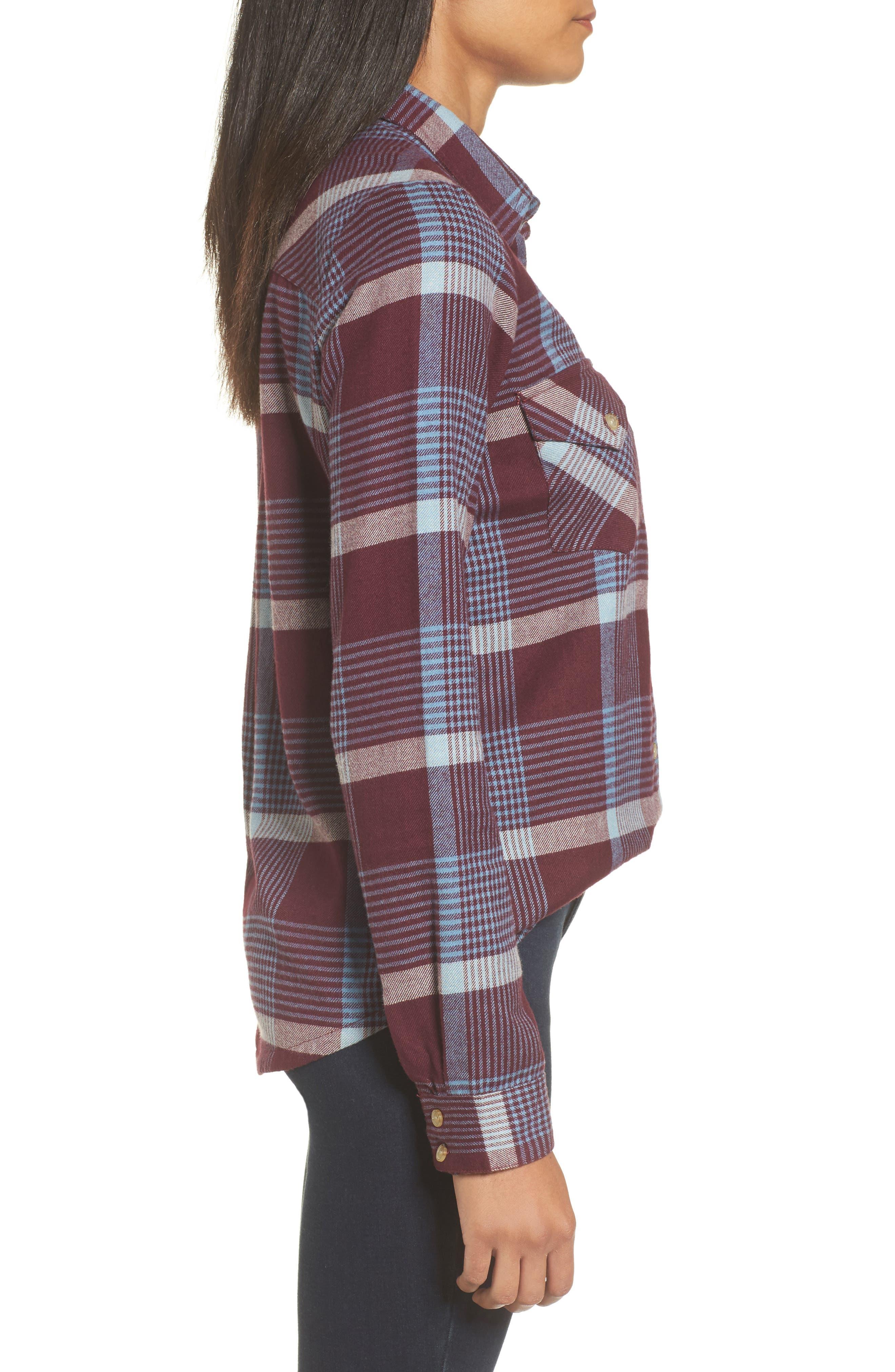 Alternate Image 3  - RVCA Plaid Flannel Shirt