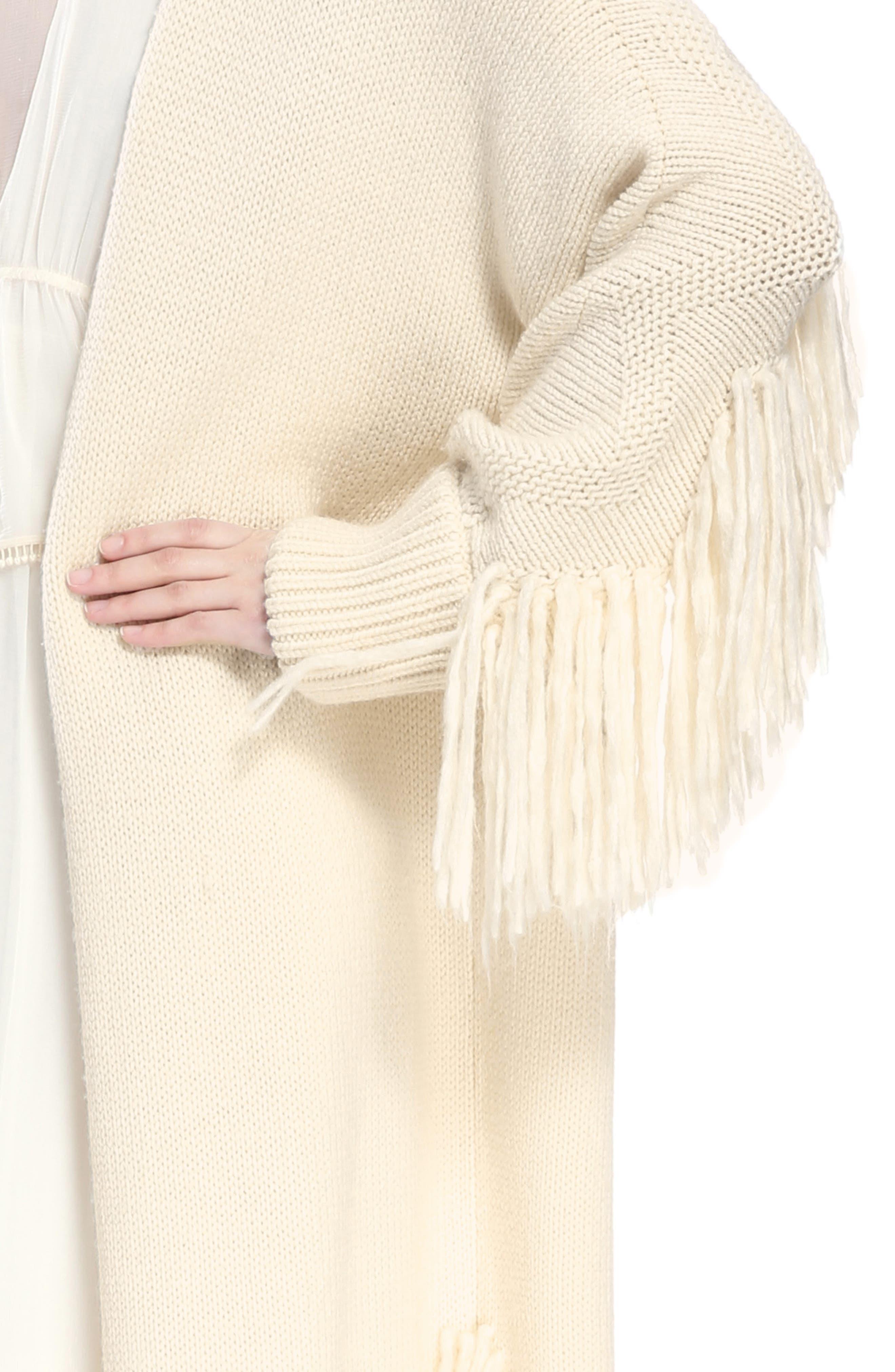 Alternate Image 4  - Chloé Shaggy Fringe Wool Cardigan