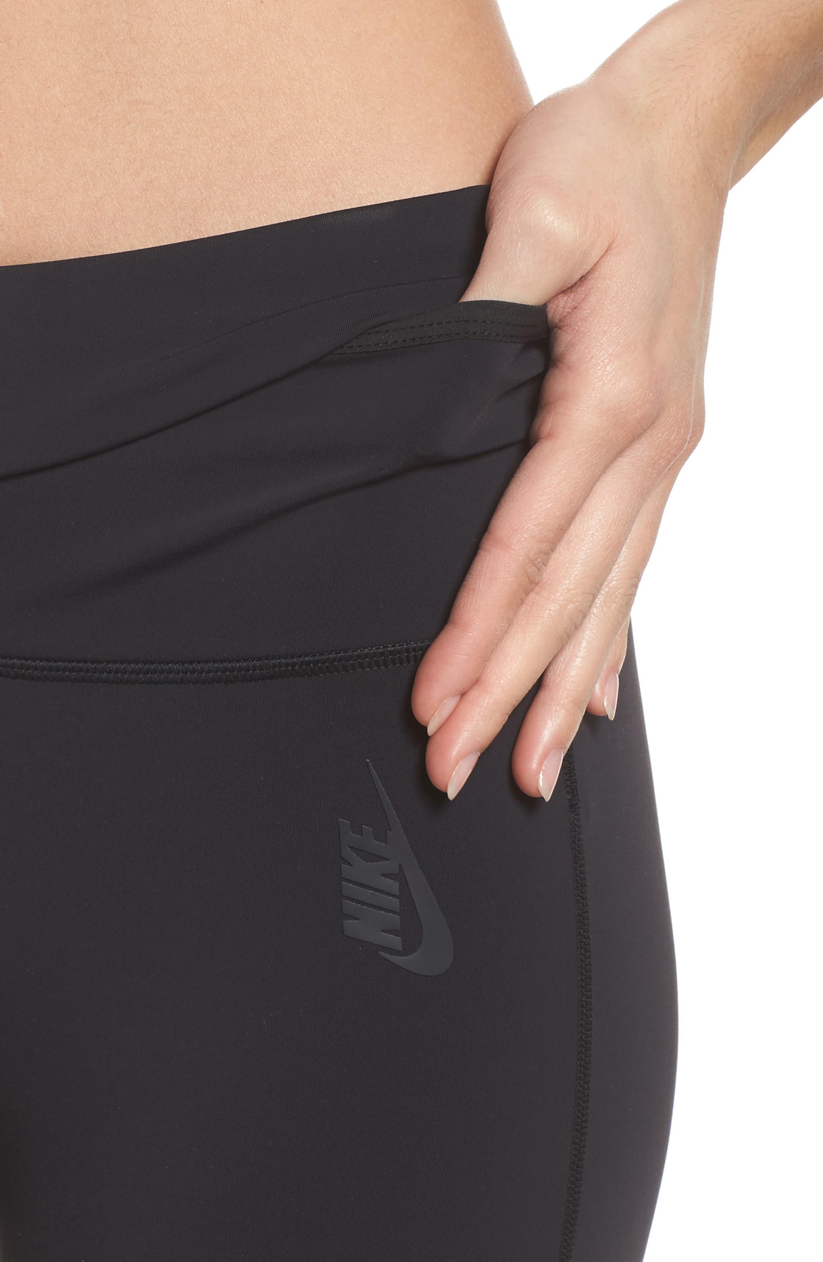 NikeLab Women's Tights,                             Alternate thumbnail 4, color,                             Black/ Black