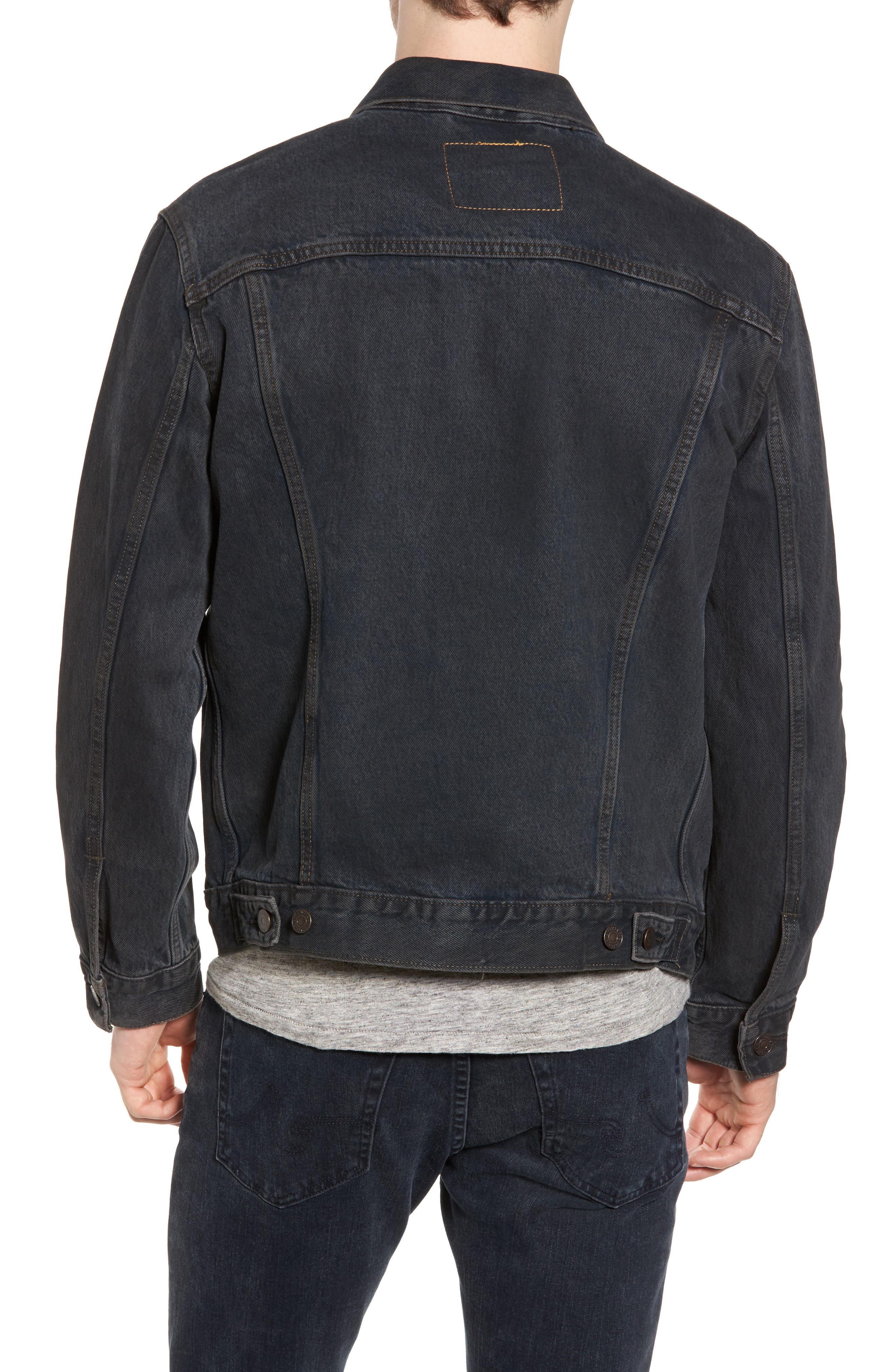 Trucker Denim Jacket,                             Alternate thumbnail 2, color,                             Grey Od