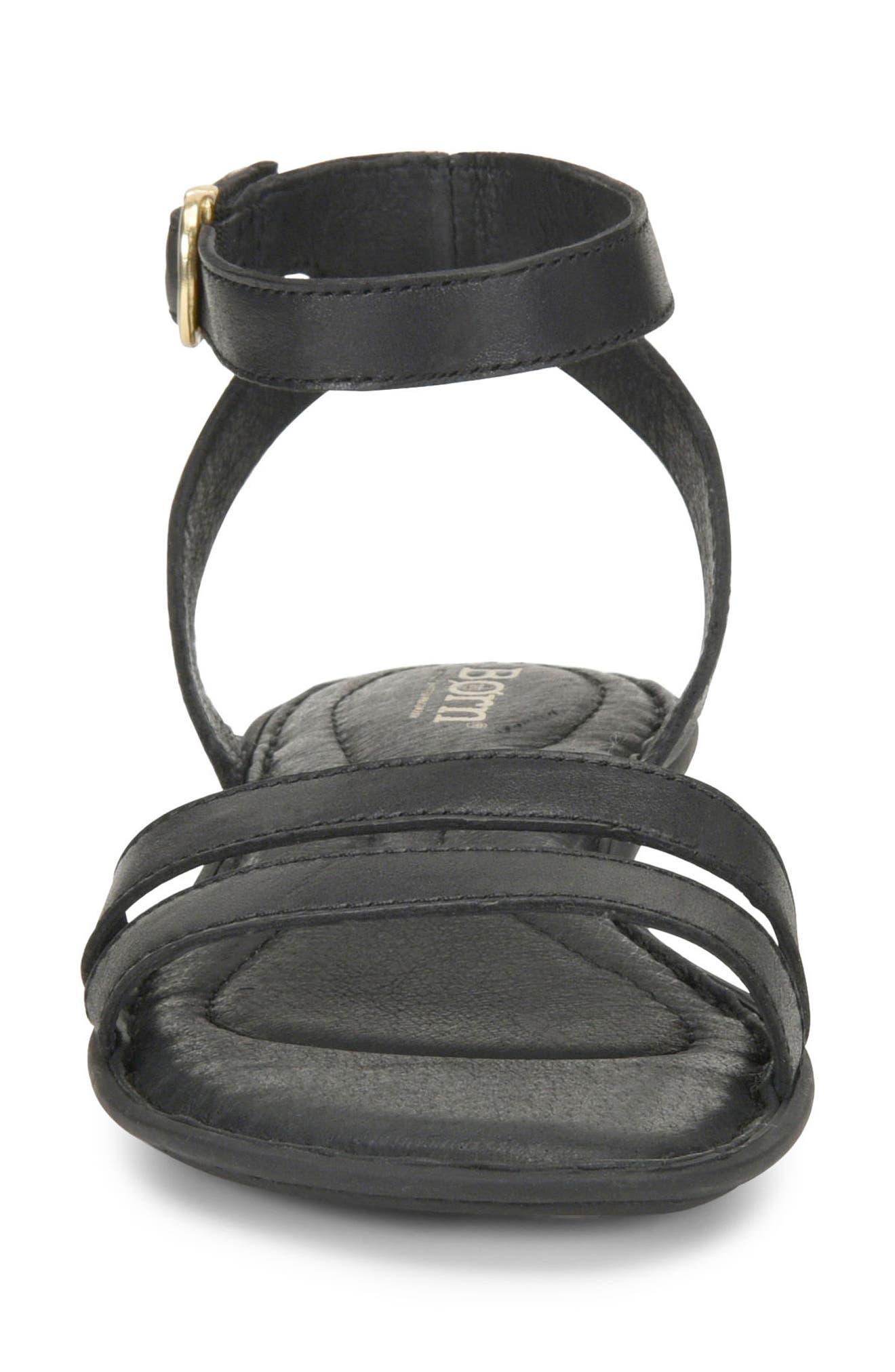 Mai Easy Sandal,                             Alternate thumbnail 4, color,                             Black Leather