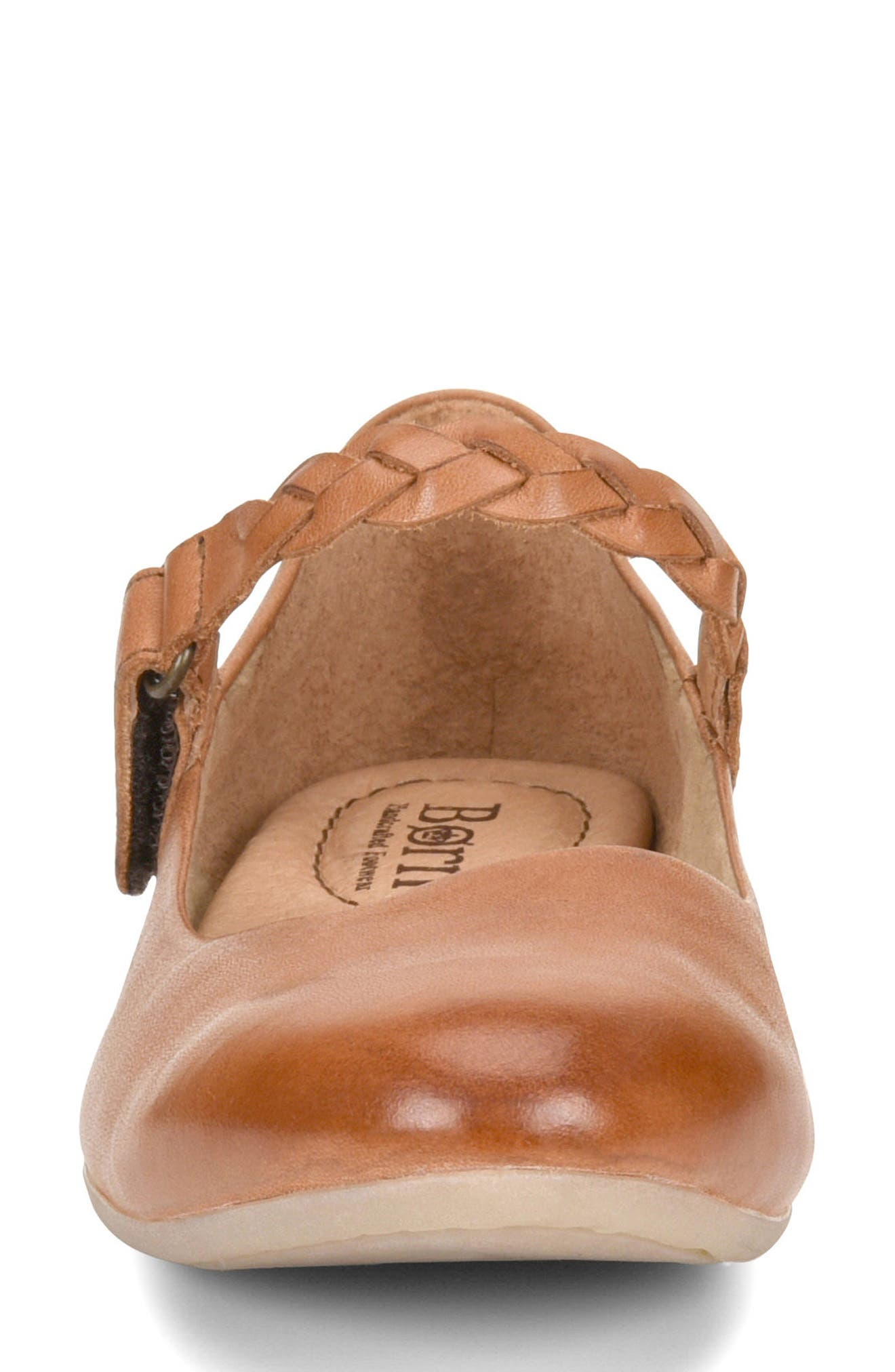 Mary Jane Flat,                             Alternate thumbnail 4, color,                             Rust Leather