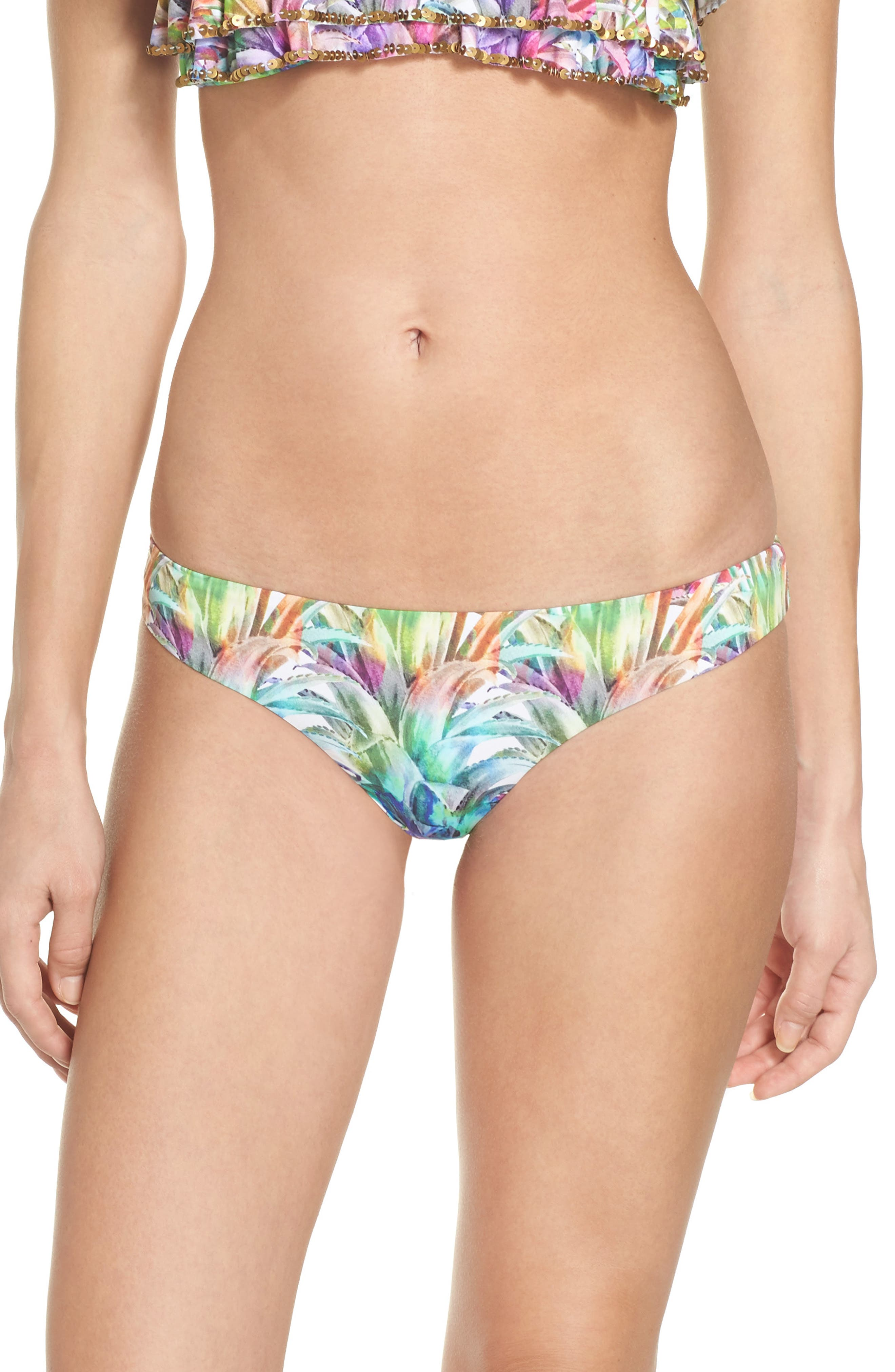 PilyQ Ruched Teeny Bikini Bottoms
