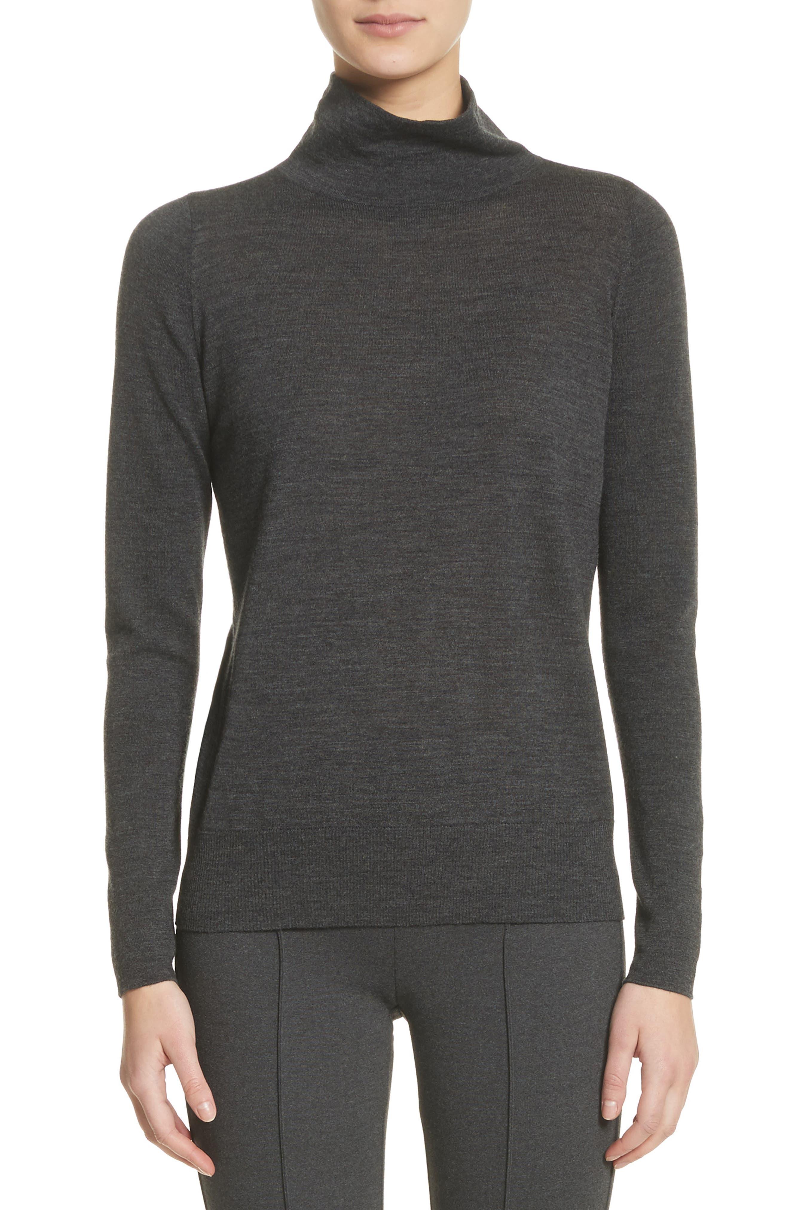 Lafayette 148 New York Merino Wool Modern Turtleneck Sweater