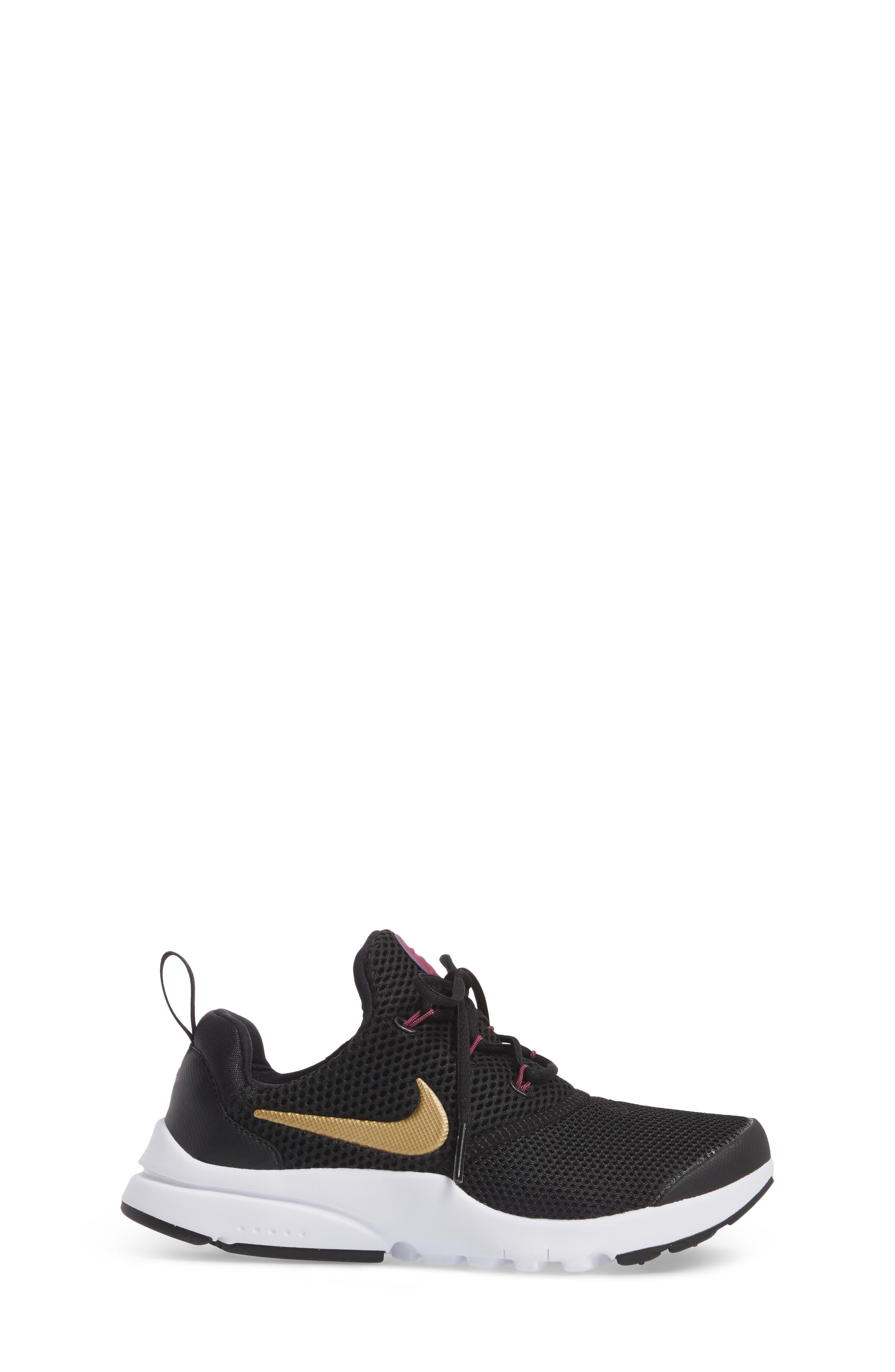 Presto Fly PS Sneaker,                             Alternate thumbnail 3, color,                             Black/ Gold