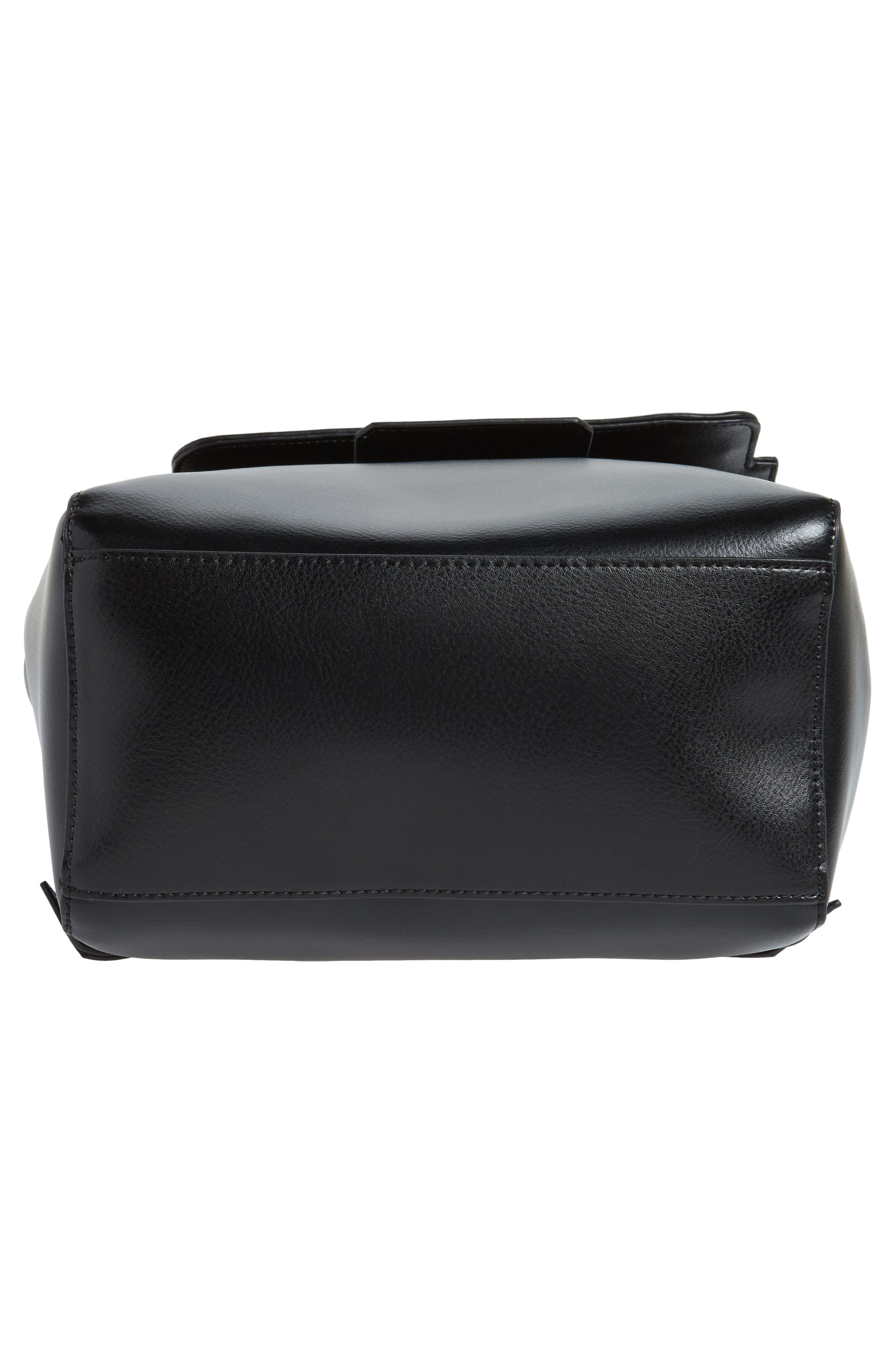 Dylan Leather Backpack,                             Alternate thumbnail 6, color,                             Black