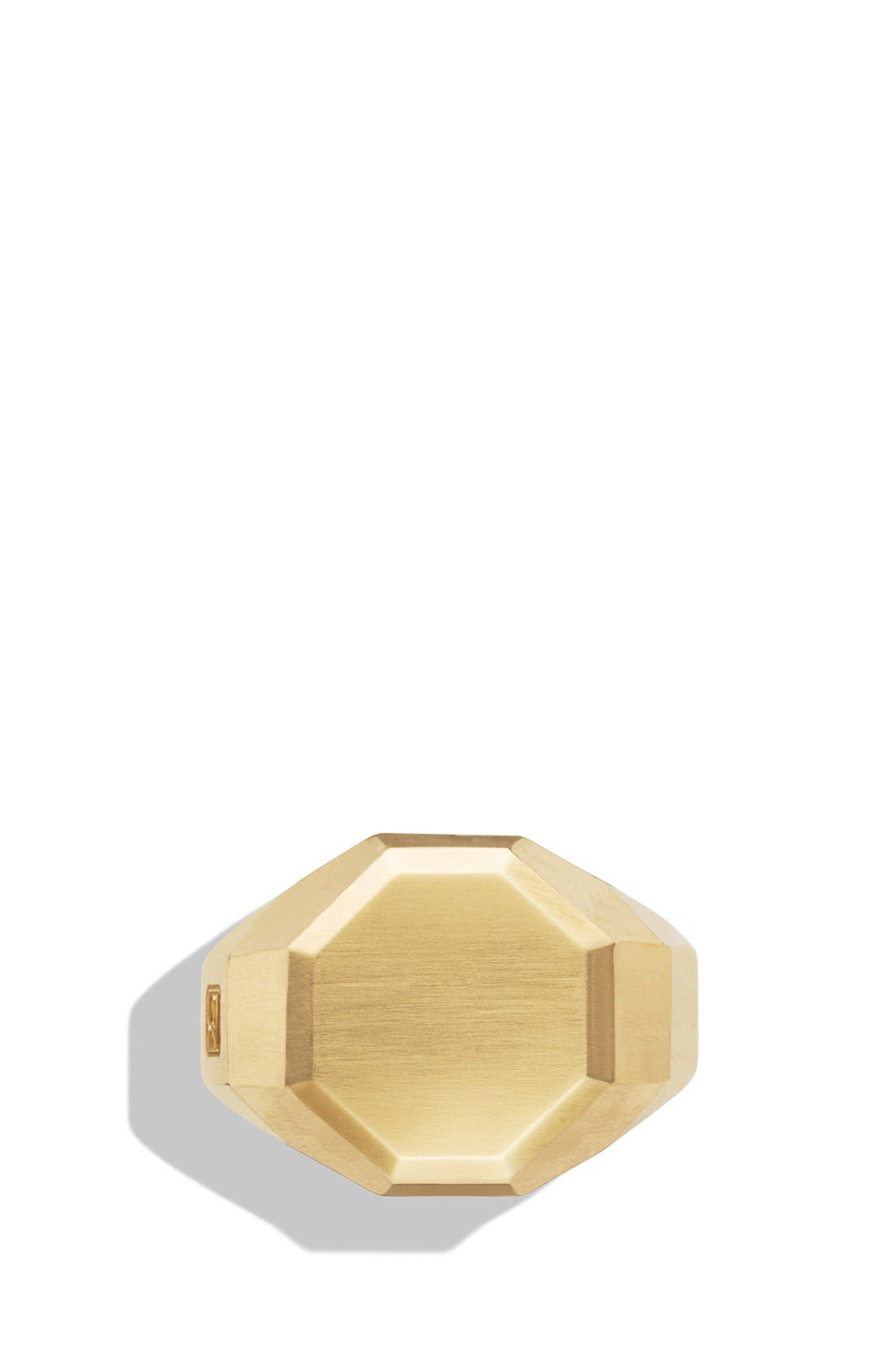'Faceted' Signet Ring with 18k Gold,                             Alternate thumbnail 2, color,                             Two Tone