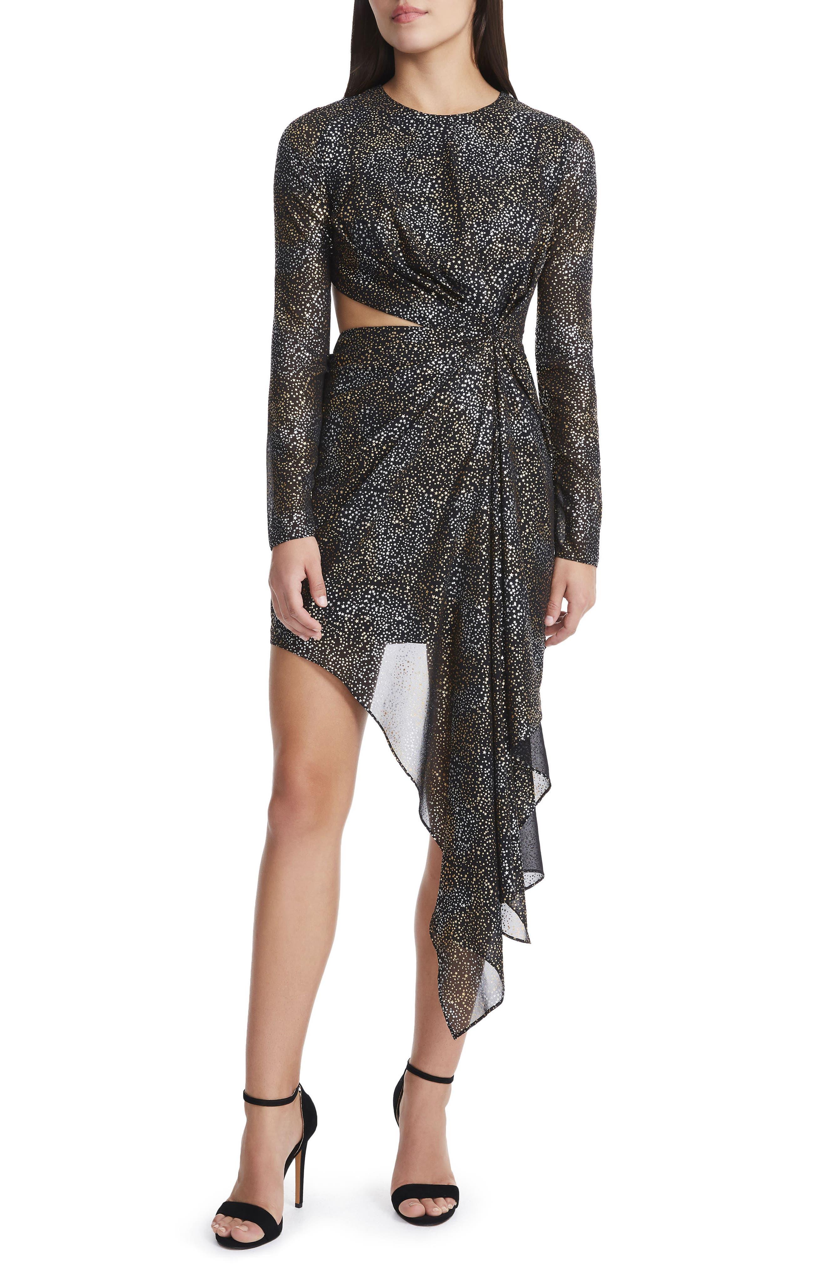 Main Image - AFRM Amos Cutout Foil Print Dress