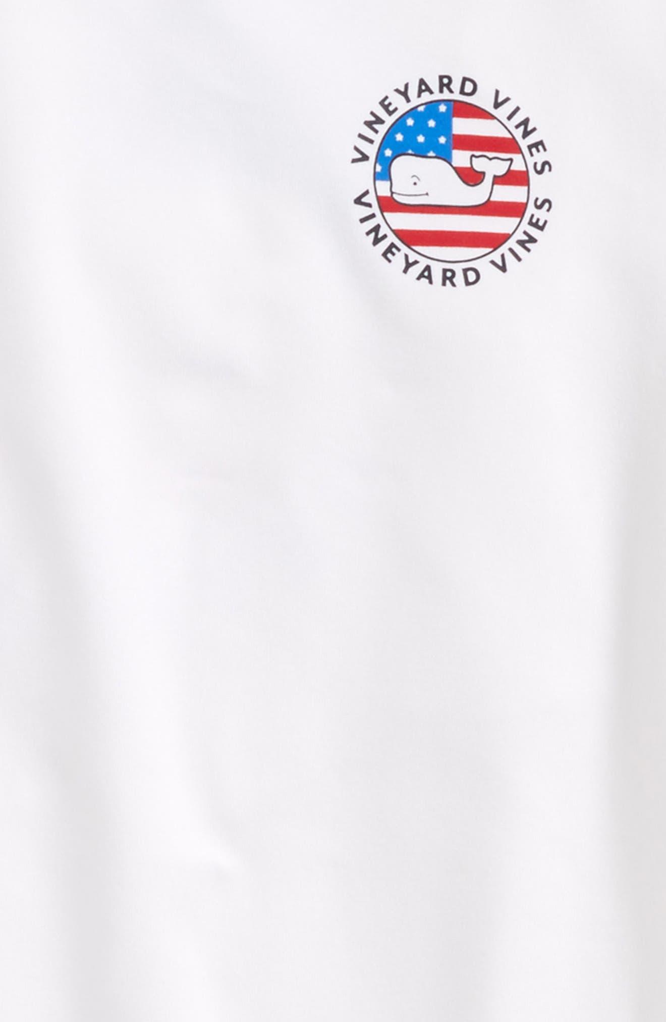 Performance Patriot Dot T-Shirt,                             Alternate thumbnail 3, color,                             White Cap
