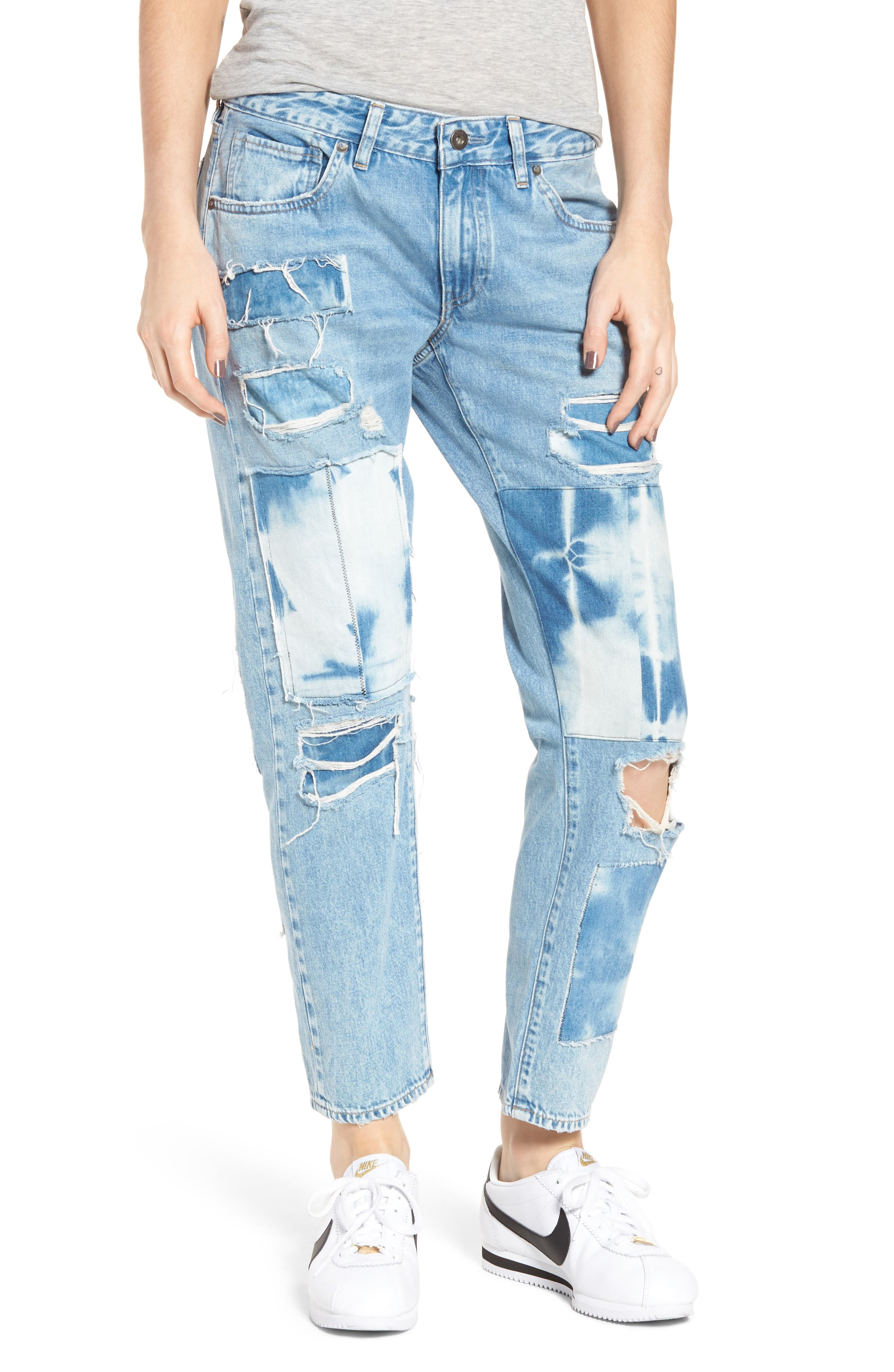 Crush Tapered Jeans,                         Main,                         color, Tidal Wave