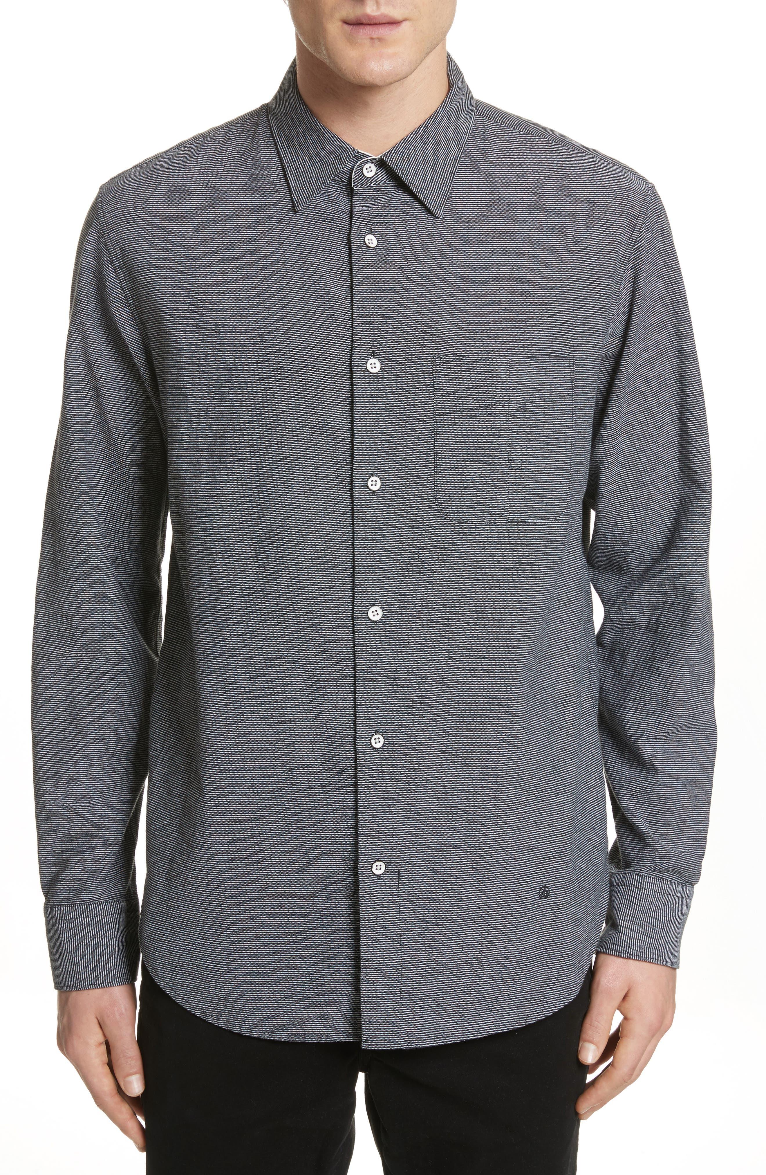 fit 3 Beach Stripe Shirt,                             Main thumbnail 1, color,                             Stripe