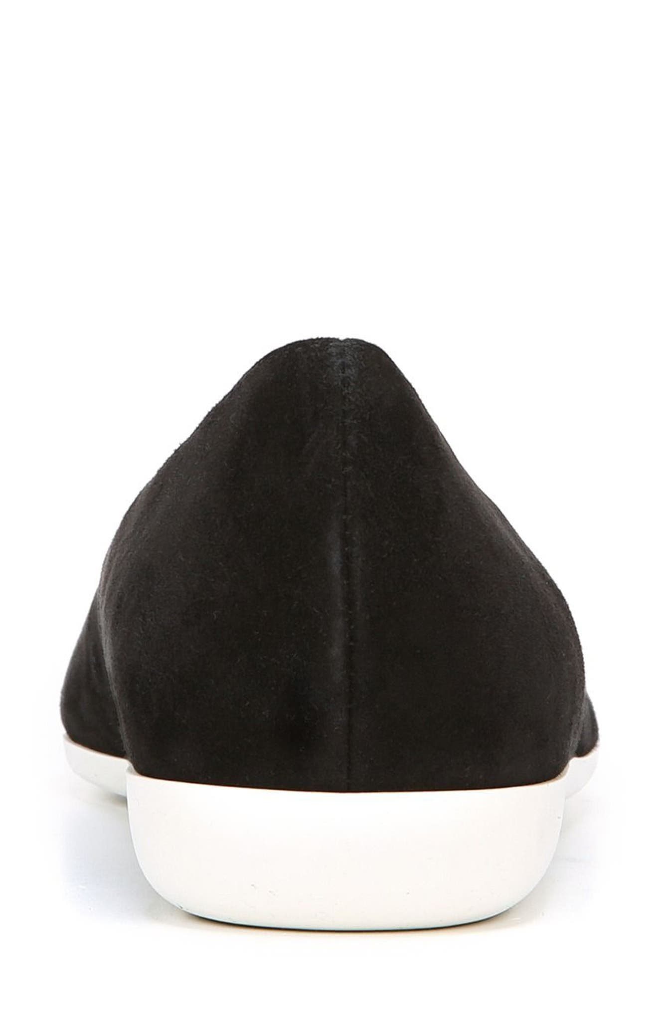 Dexie Pointy Toe Flat,                             Alternate thumbnail 6, color,                             Black Suede