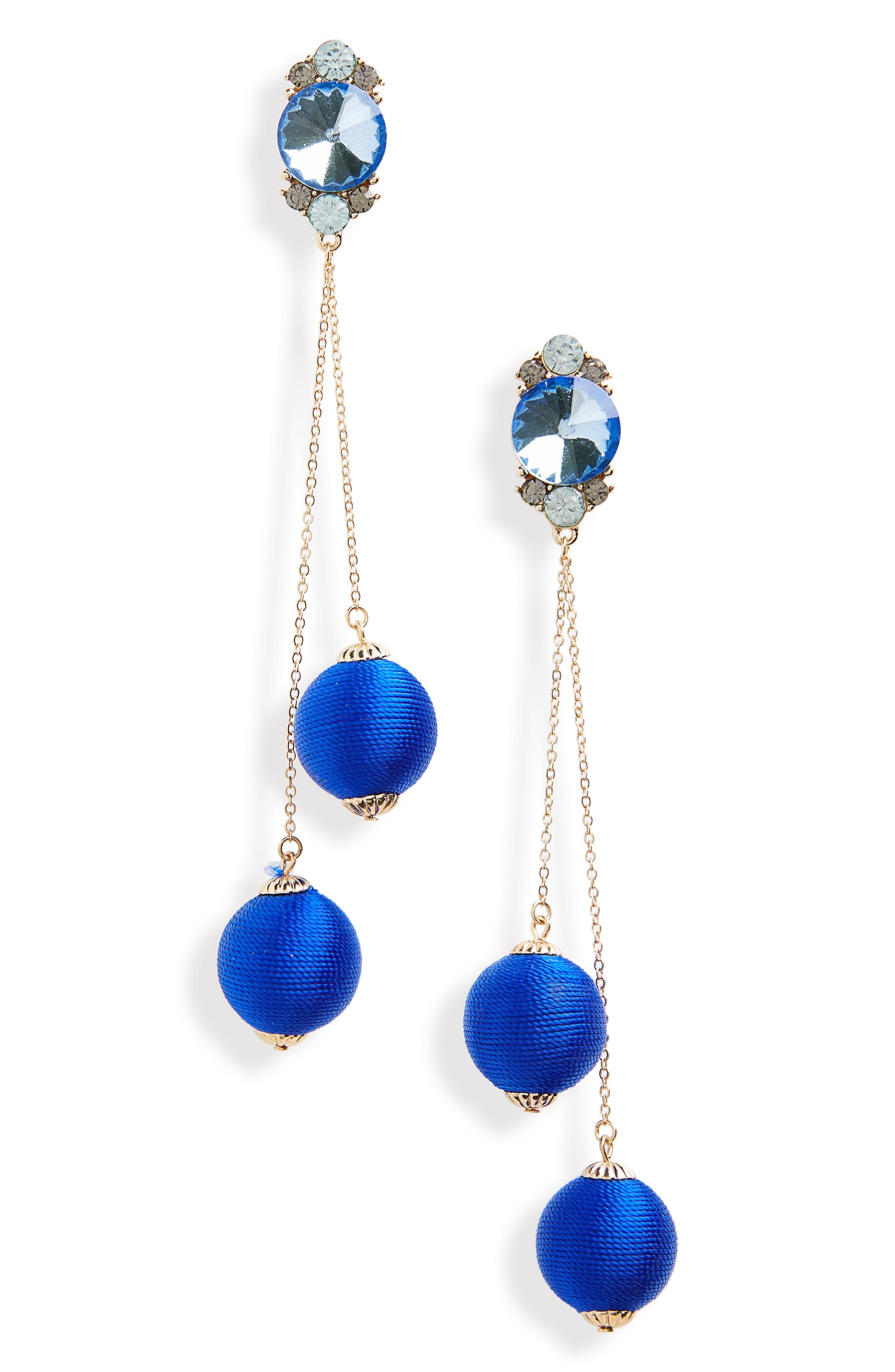 Main Image - Kitsch Crystal & Ball Drop Earrings