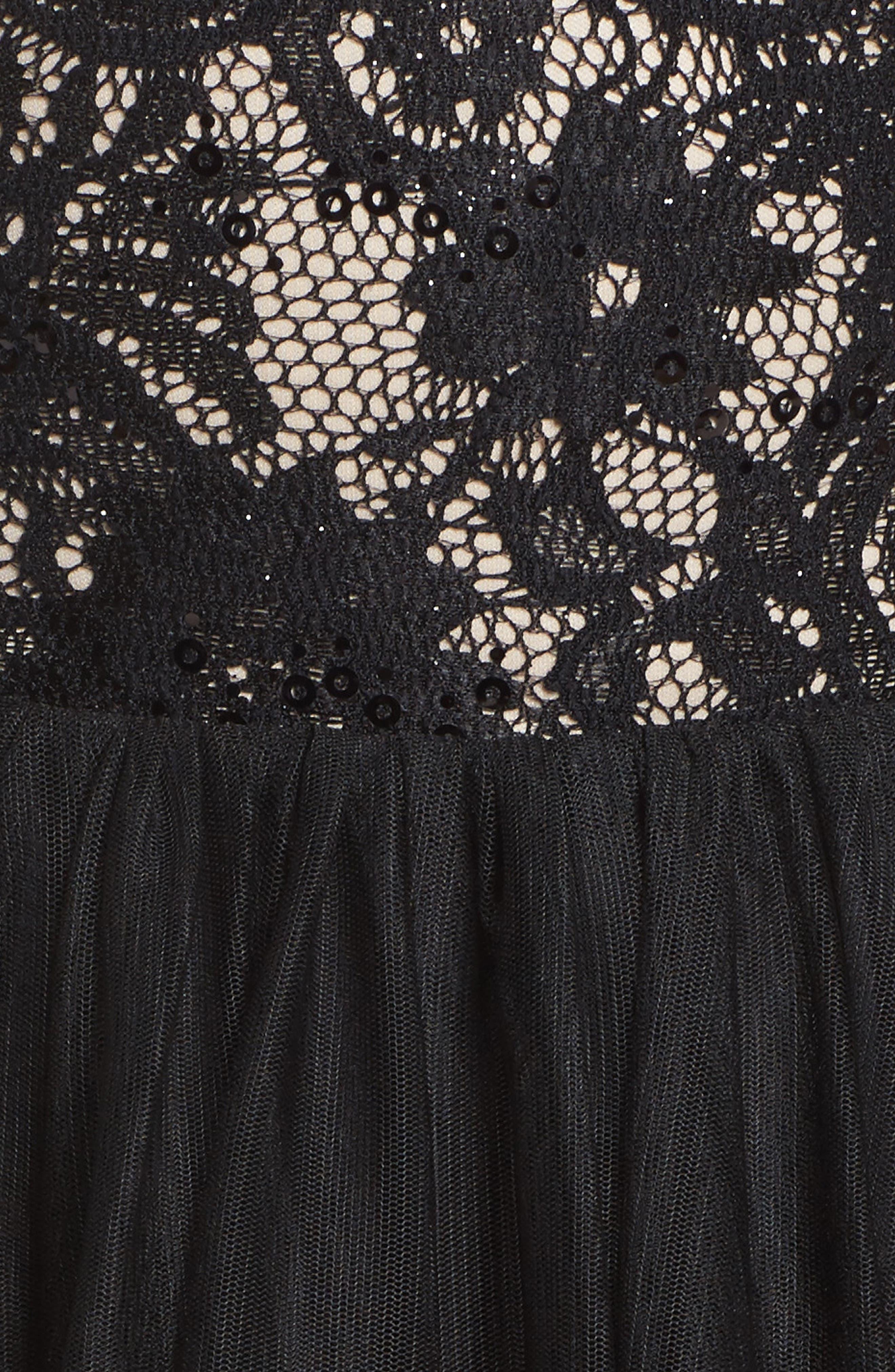 Alternate Image 5  - Sequin Hearts Lace Halter Neck Dress