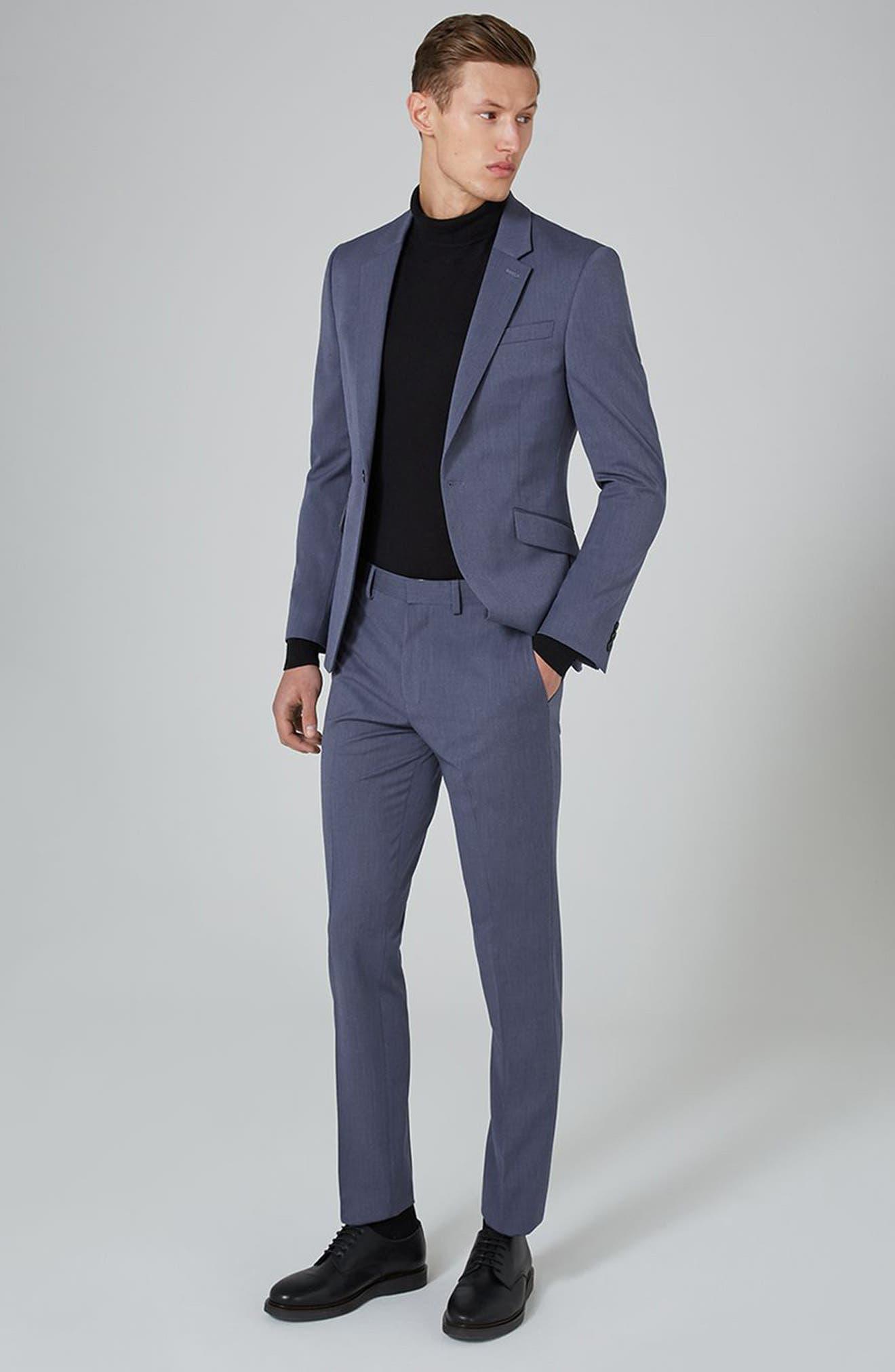 Muscle Fit Suit Jacket,                             Alternate thumbnail 2, color,                             Mid Blue