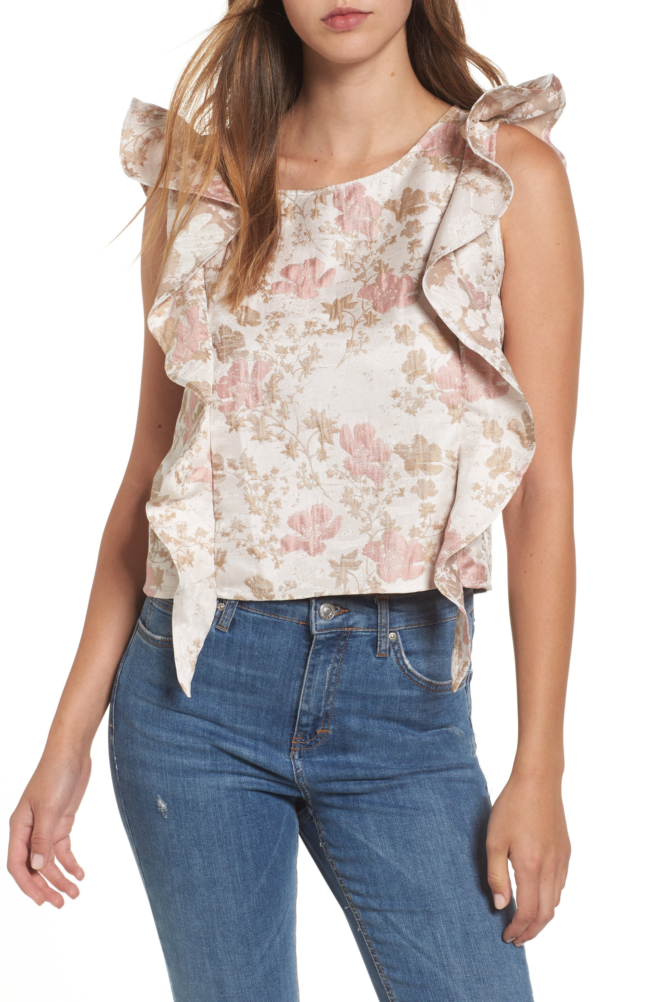 Alternate Image 1 Selected - Leith Ruffle Sleeve Top