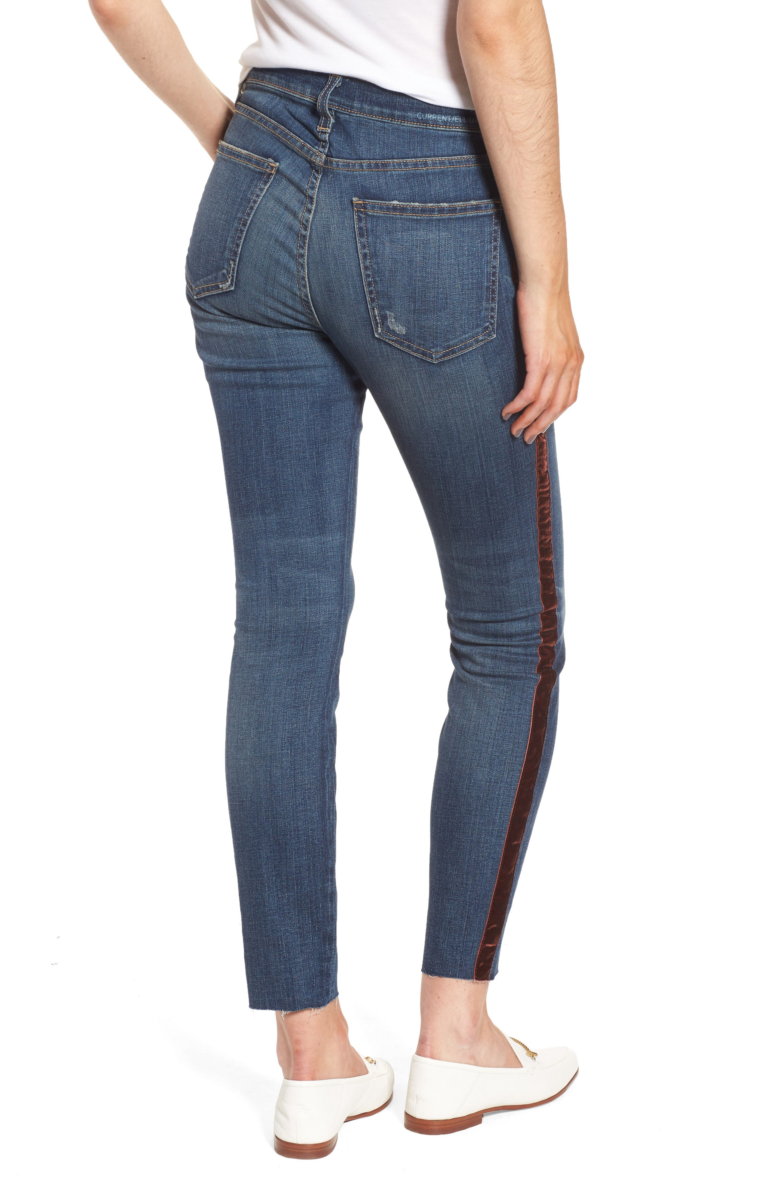 Alternate Image 2  - Current/Elliott The High Waist Stiletto Ankle Skinny Jeans (Townie)