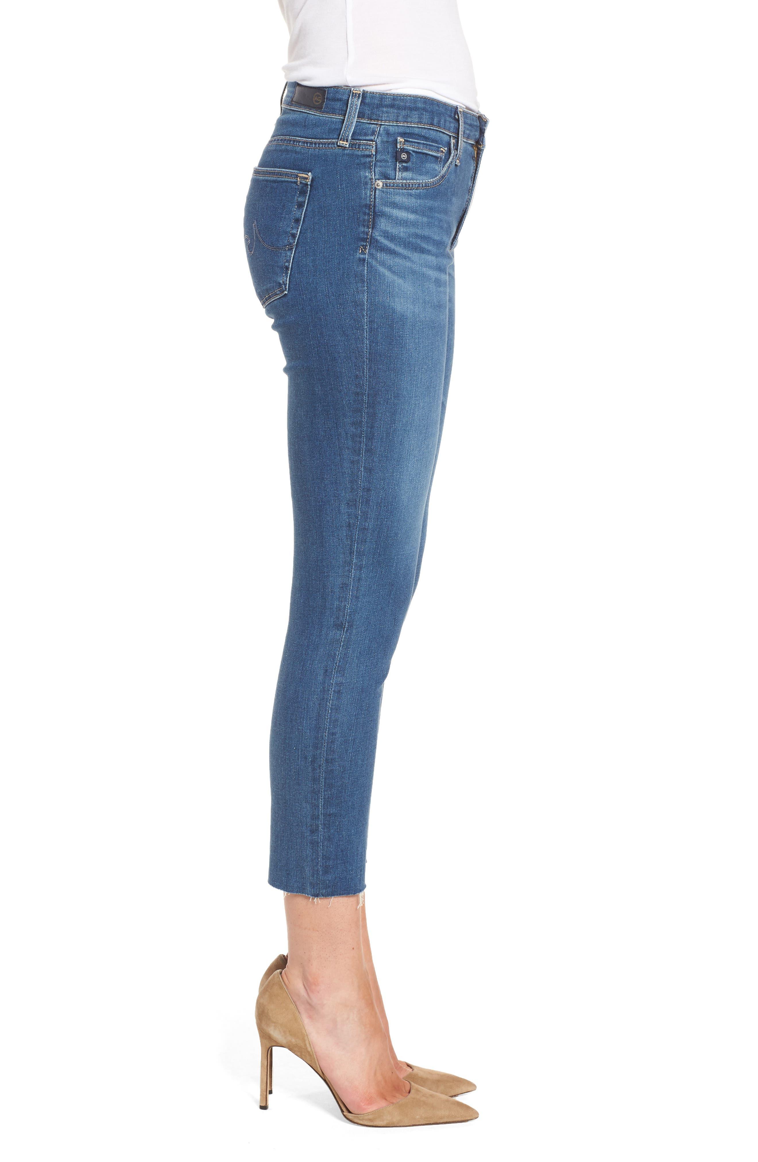 Prima Crop Skinny Jeans,                             Alternate thumbnail 3, color,                             Indigo Viking