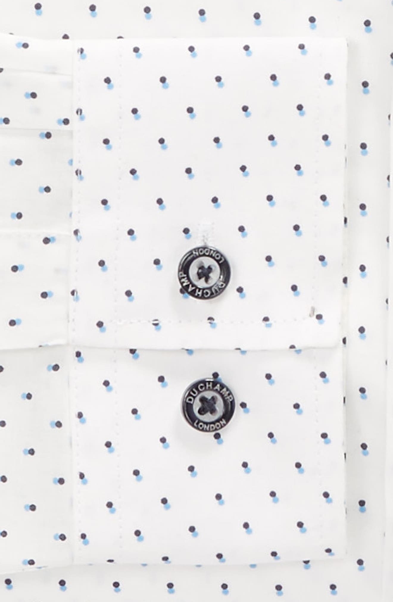 Alternate Image 3  - Duchamp Trim Fit Dot Dress Shirt