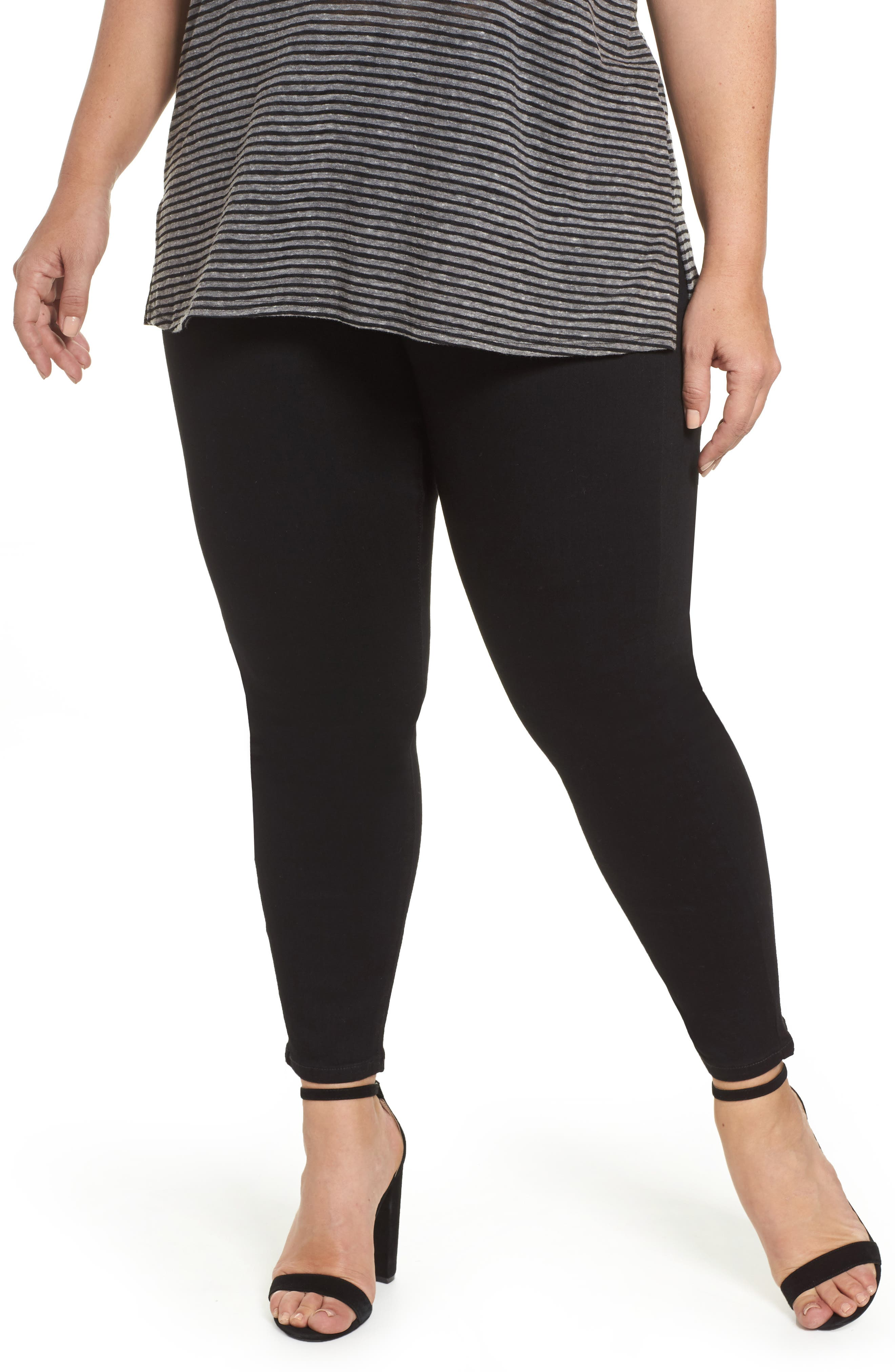 Sienna Pull-On Skinny Ankle Jeans,                         Main,                         color, Black Rinse
