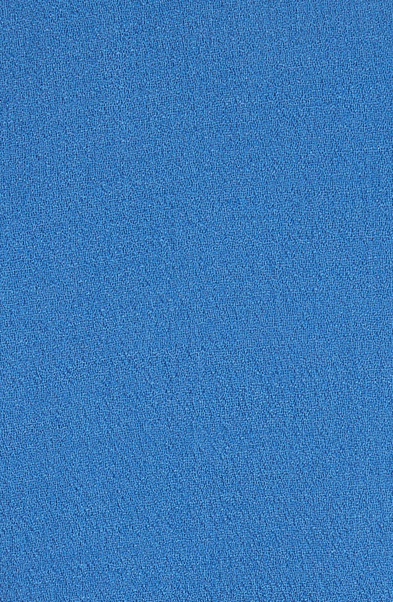 Stretch Wool Sheath Dress,                             Alternate thumbnail 6, color,                             Ocean