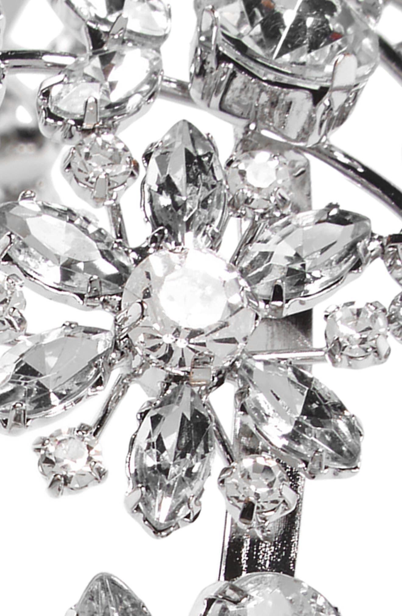 Ornate Crystal Headband,                             Alternate thumbnail 2, color,                             Silver