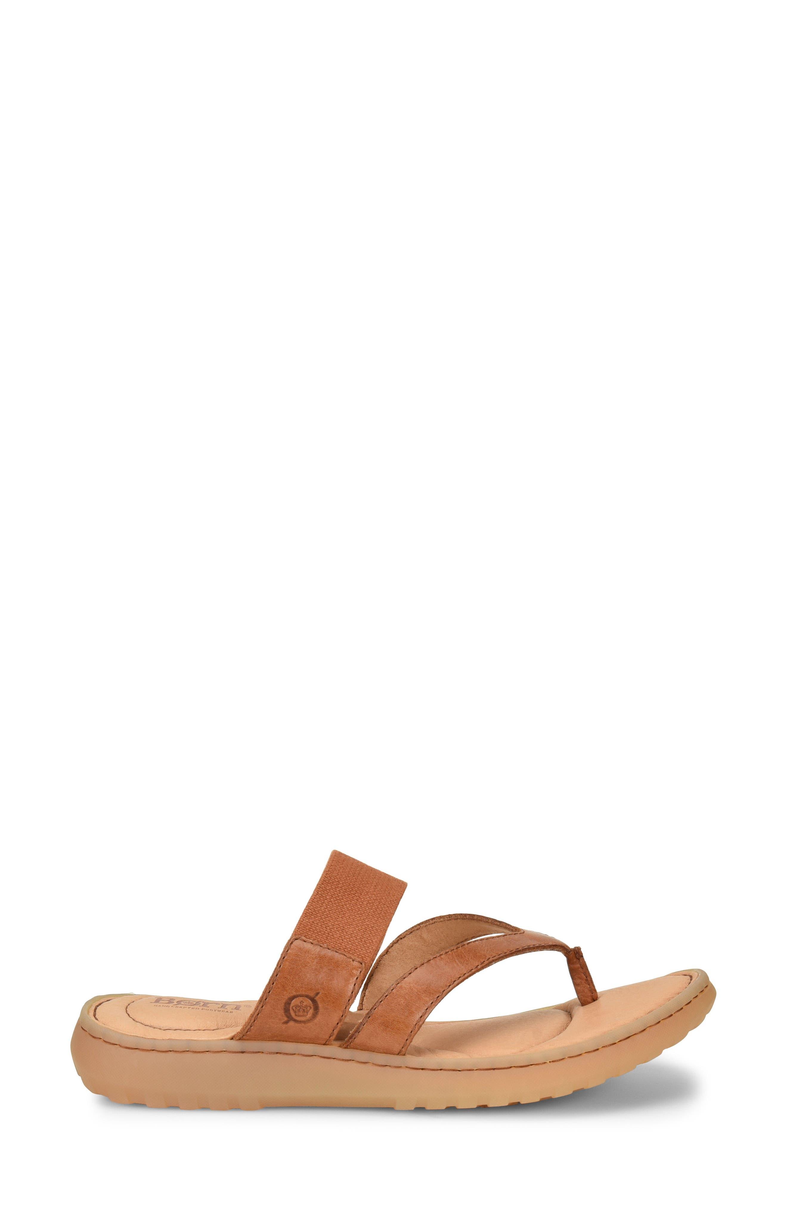 Nevis Sandal,                             Alternate thumbnail 3, color,                             Brown Leather
