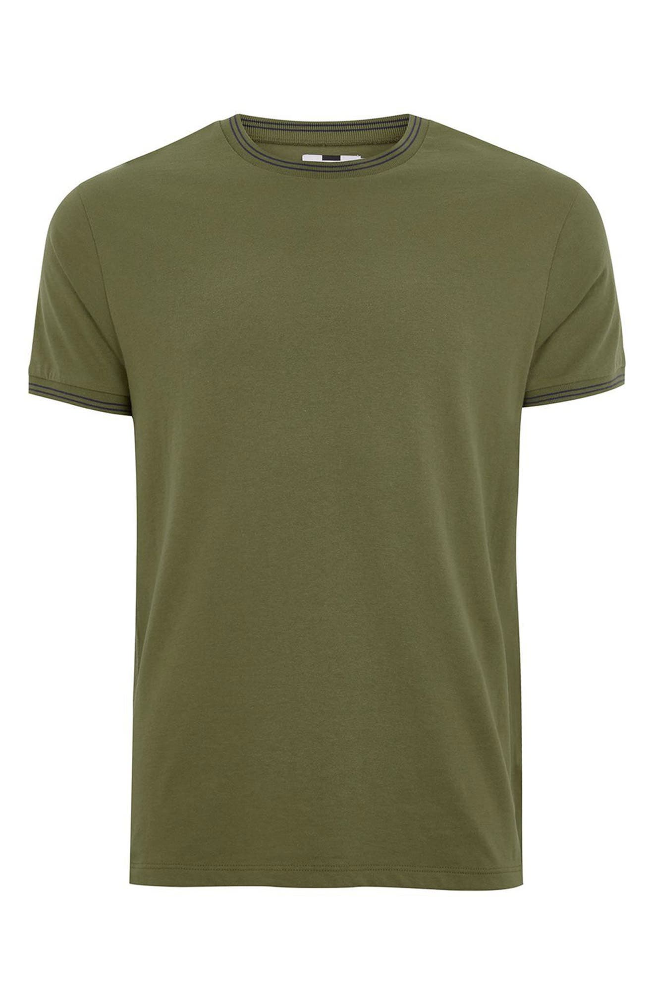 Stripe Muscle T-Shirt,                             Alternate thumbnail 4, color,                             Olive