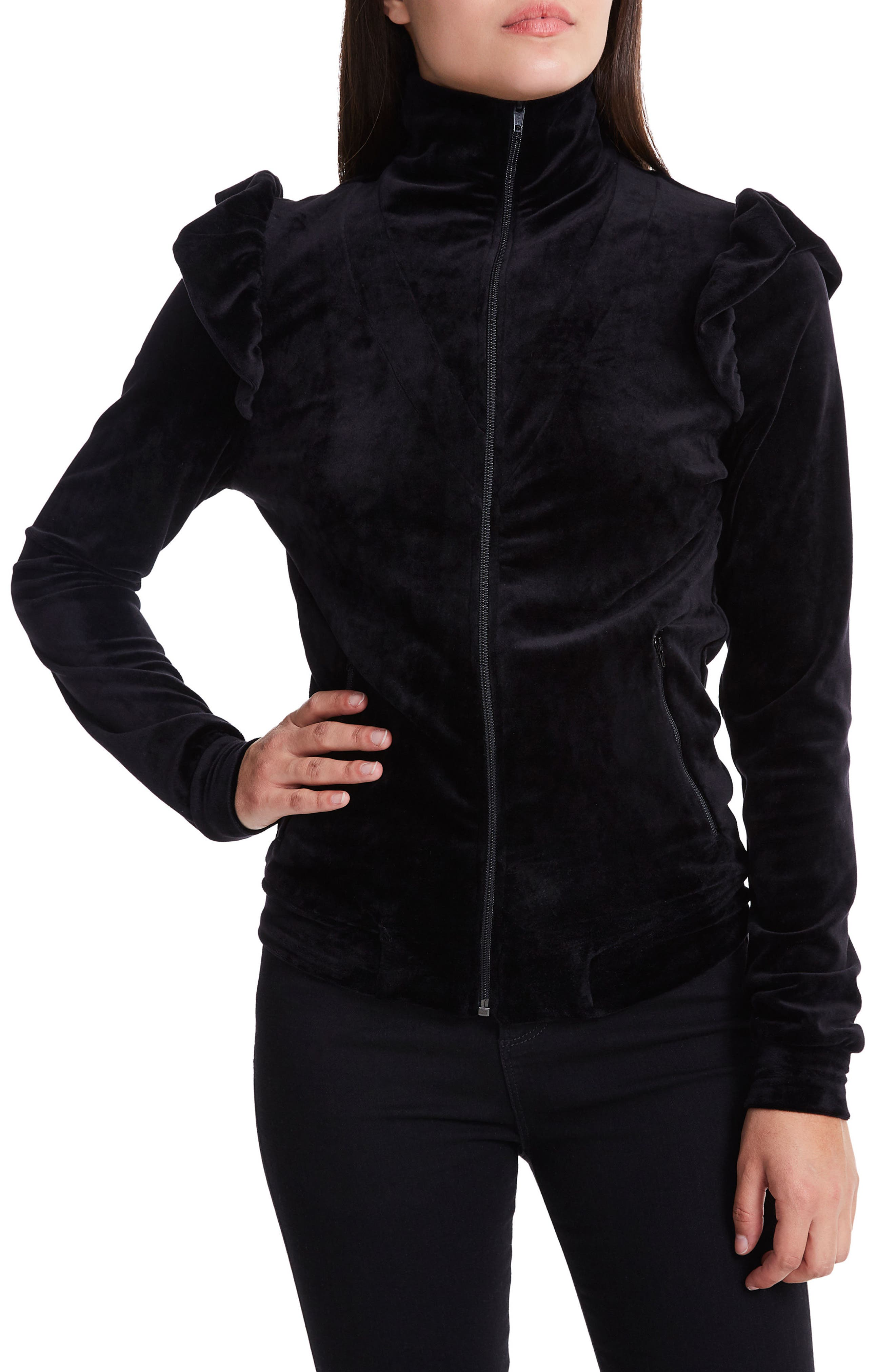 Arrow Track Jacket,                         Main,                         color, Noir Velour